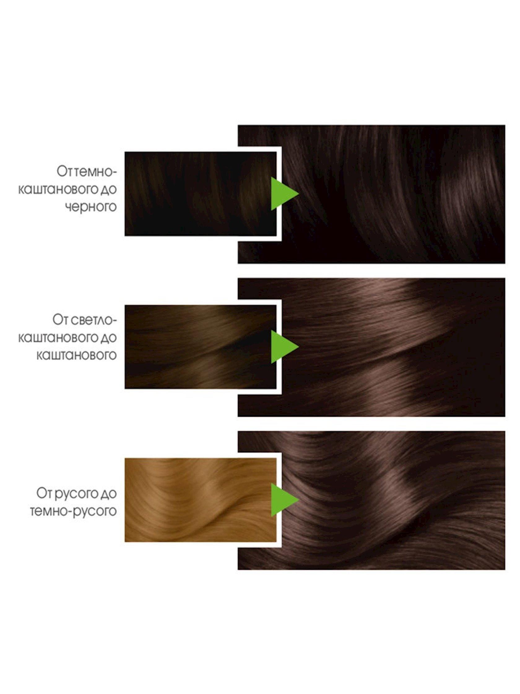 Saç üçün qalıcı krem-boya Garnier Color Naturals 4.00 Dərin tünd şabalıd,110 ml