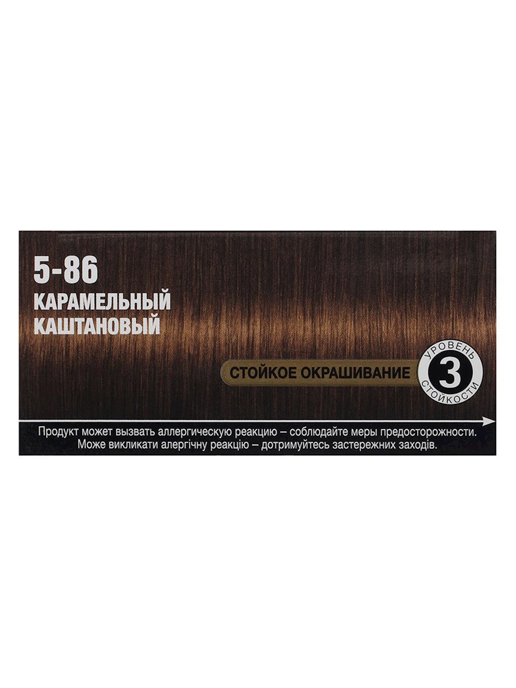 Saç üçün qalıcı krem-boya Syoss Oleo İntense ammonyaksız 5.86 Karamelli şabalıd