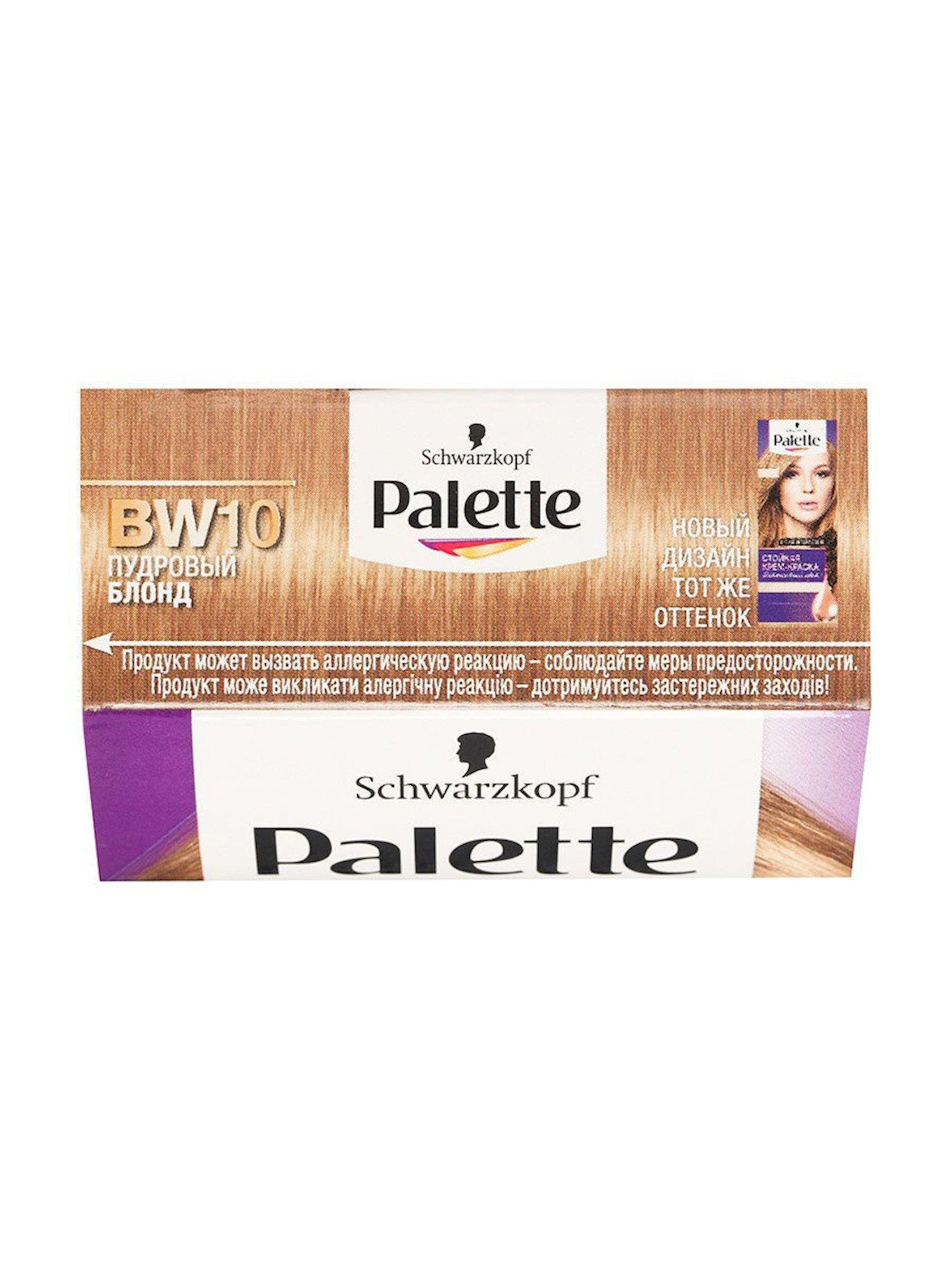 Saç üçün qalıcı krem-boya Palette Intensive Color BW10 10-46 Pudralı blond
