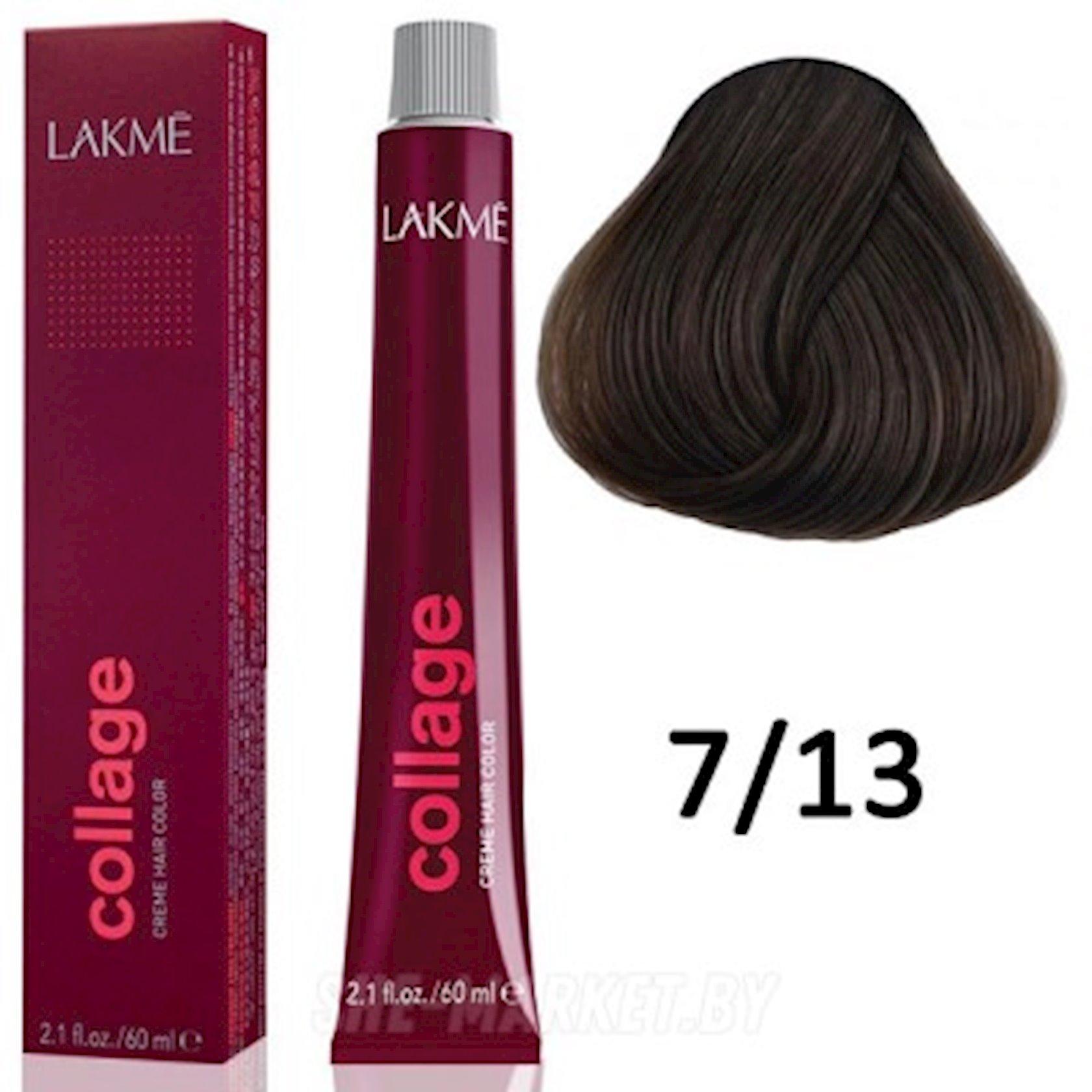 Saç üçün qalıcı krem-boya Lakme Collage 7/13 Orta blond bej