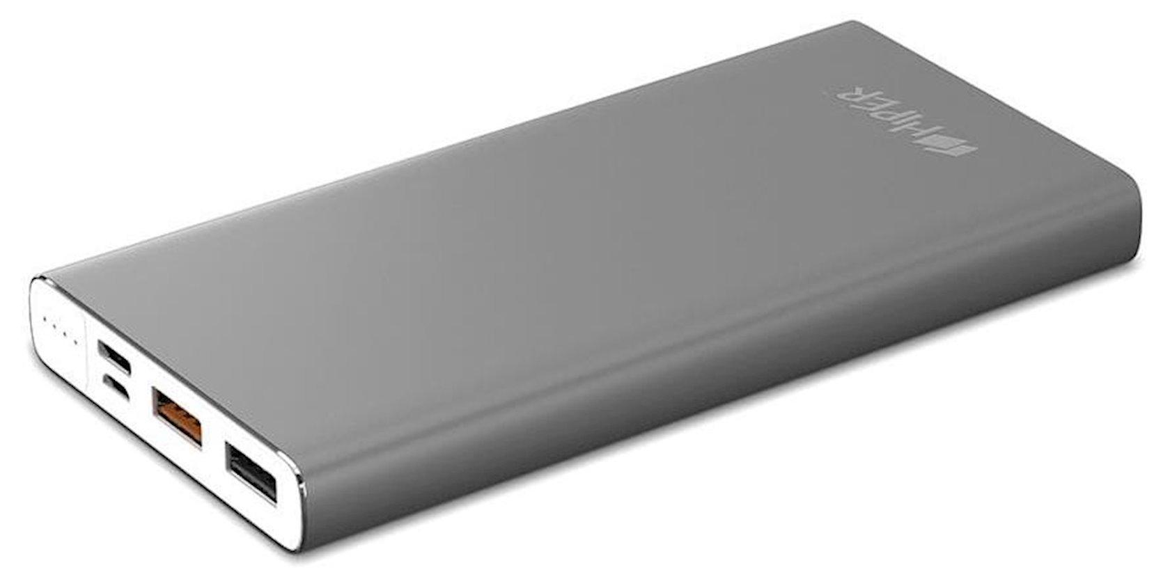 Xarici akkumulyator Hiper Power Bank 10000 mA/saat MPX10000 Space Gray