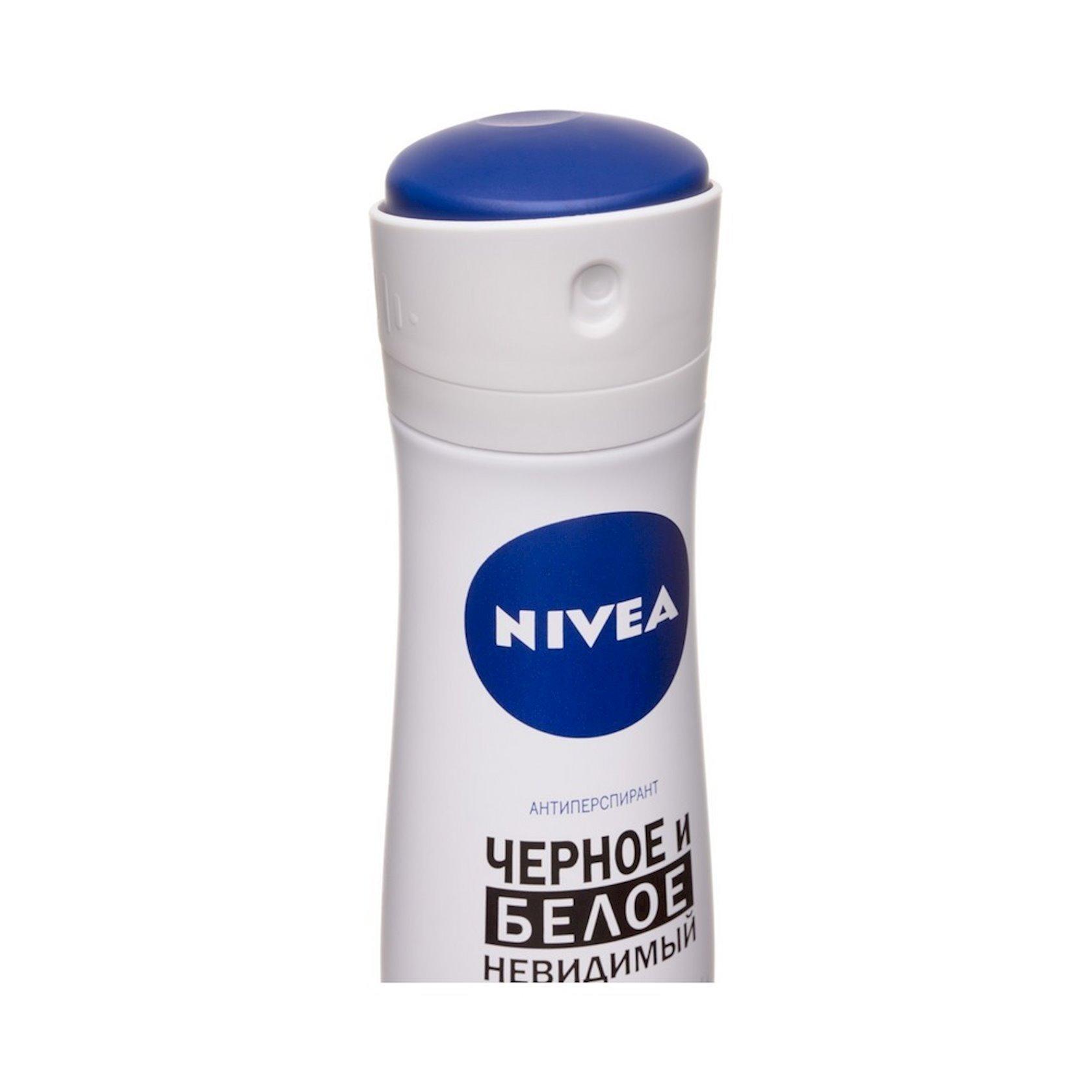 Dezodorant-antiperspirant Nivea Clear Görünməz qara və ağ 150 ml
