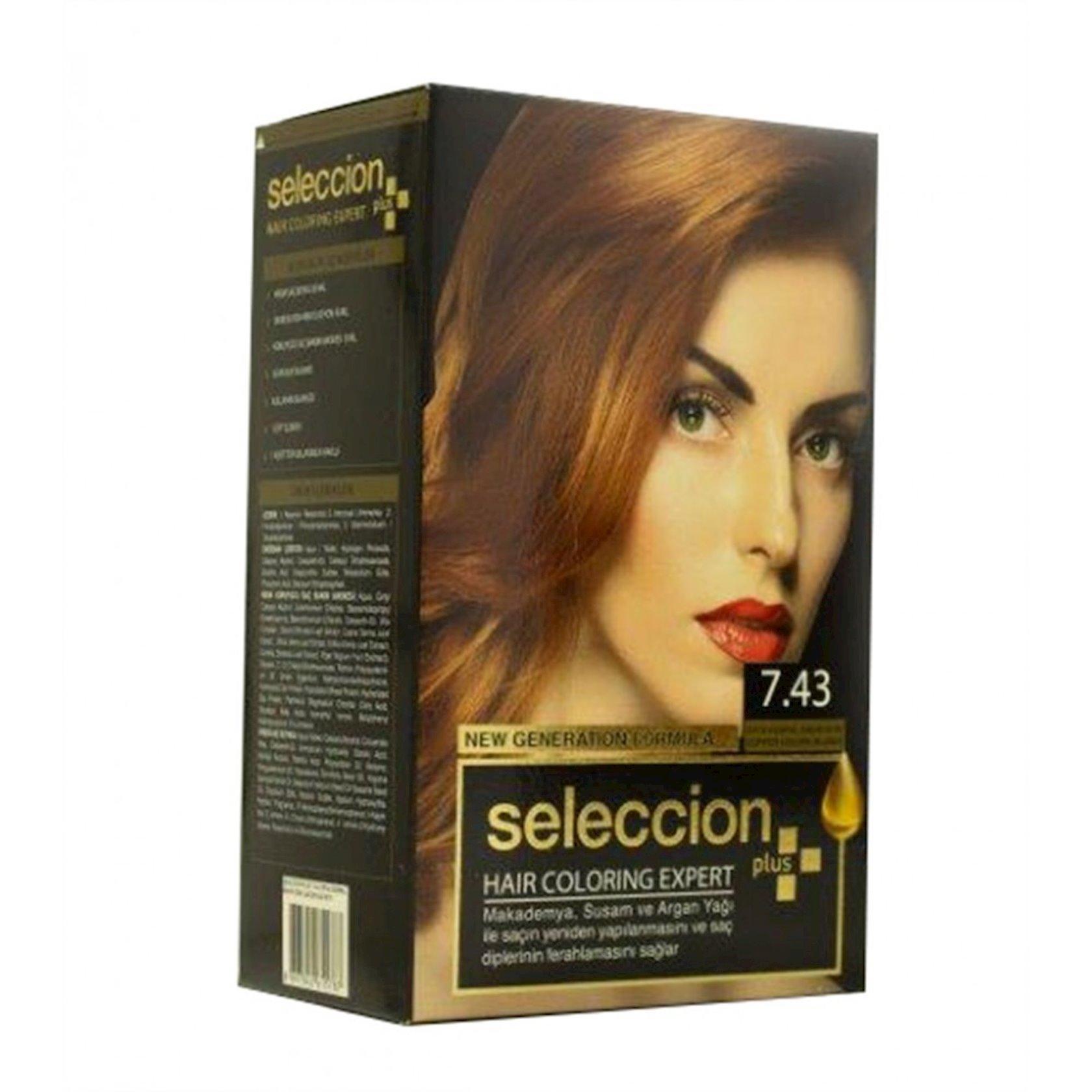 Saç boyası Seleccion Plus Set Plus Set Dye 7.43 Mis-qızılı sarışın 110 ml
