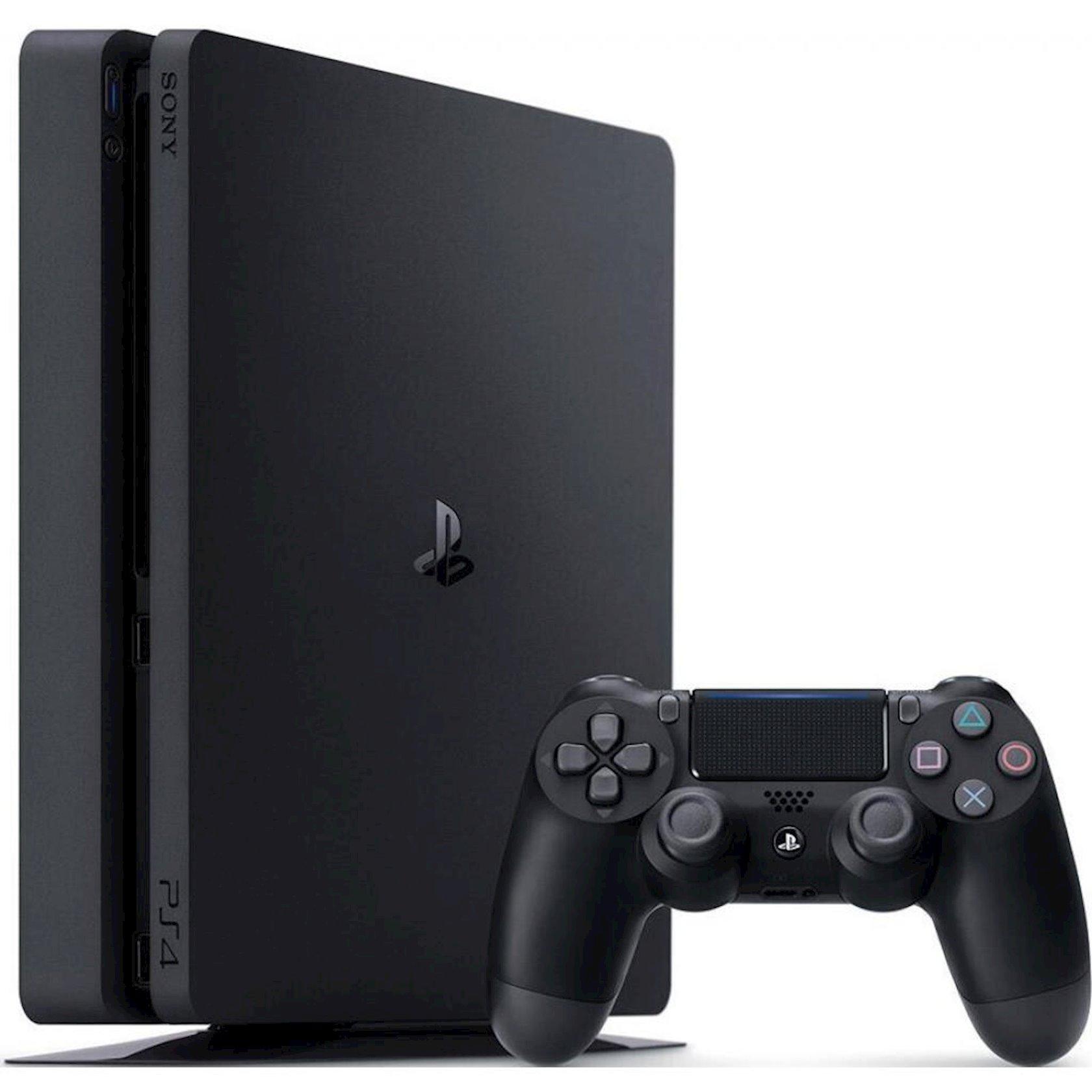 Oyun konsolu Sony PlayStation 4 1 TB + GTS/HZD CE/SpiderMan (PS+3M) Qara