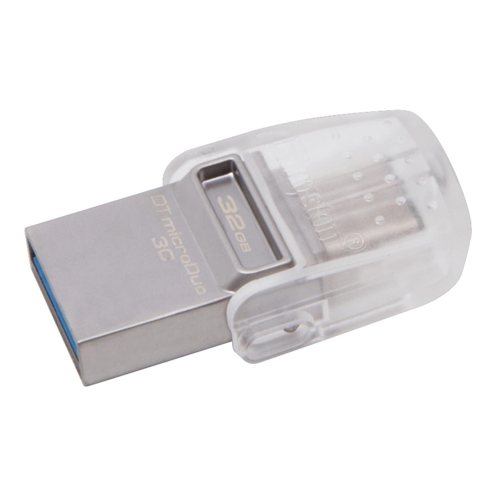 Flash yaddaş Kingston 32GB DT microDuo 3C, USB 3.0/3.1