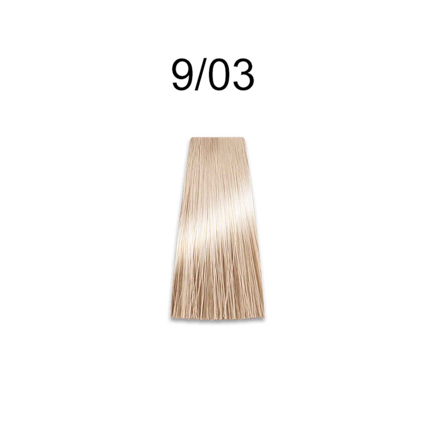 Saçlar üçün krem-boya Prosalon Professional Intensis Color Art № 9-3 light golden blond 100 ml