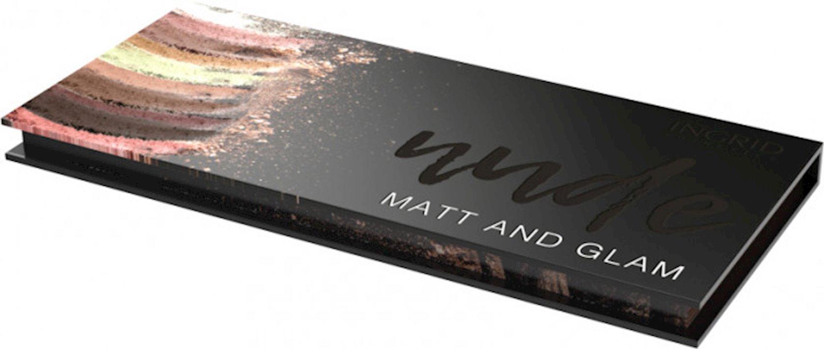 Peşəkar göz kölgələri paleti Ingrid Matt Glam Nude Of Natural Beauty, 10 çalar, 27 q