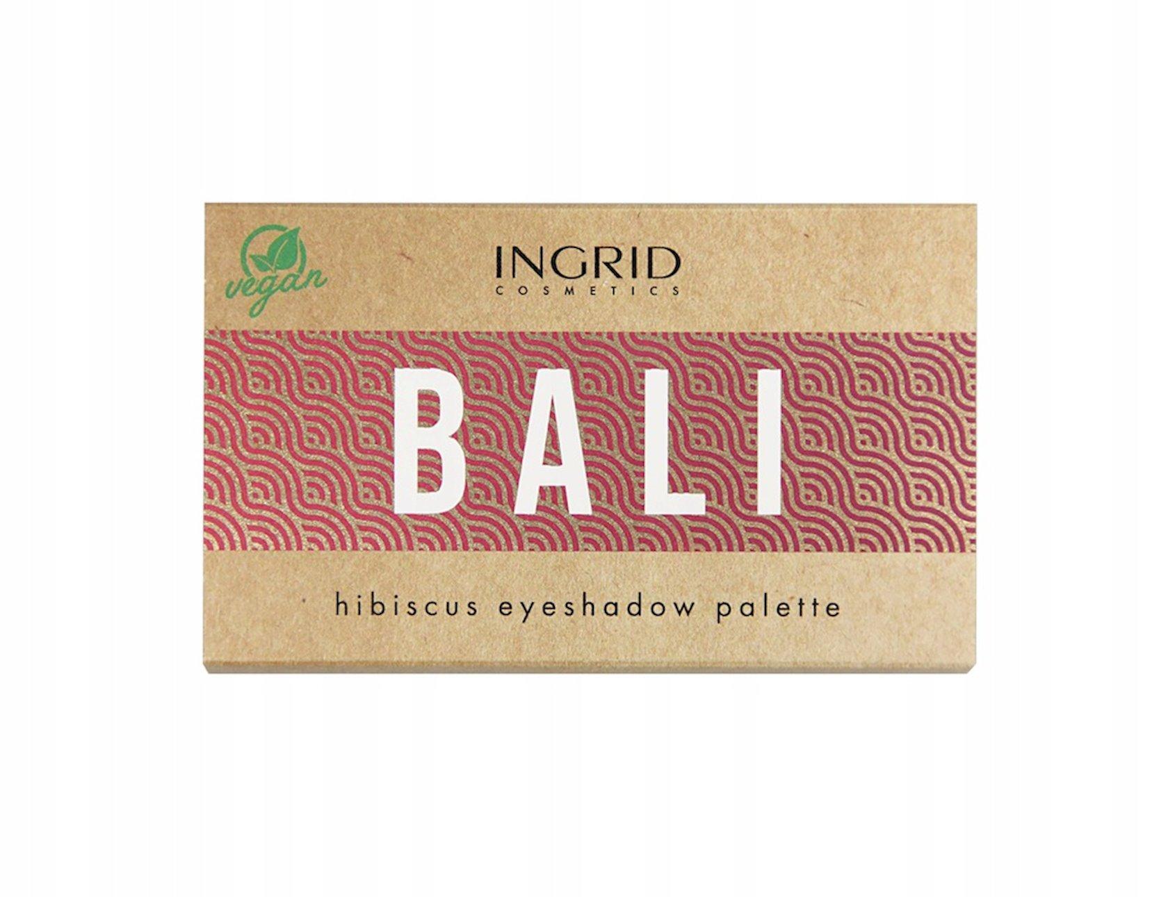 Peşəkar göz kölgələri paleti Ingrid Bali Hibiscus, 8 çalar, 9,5 q