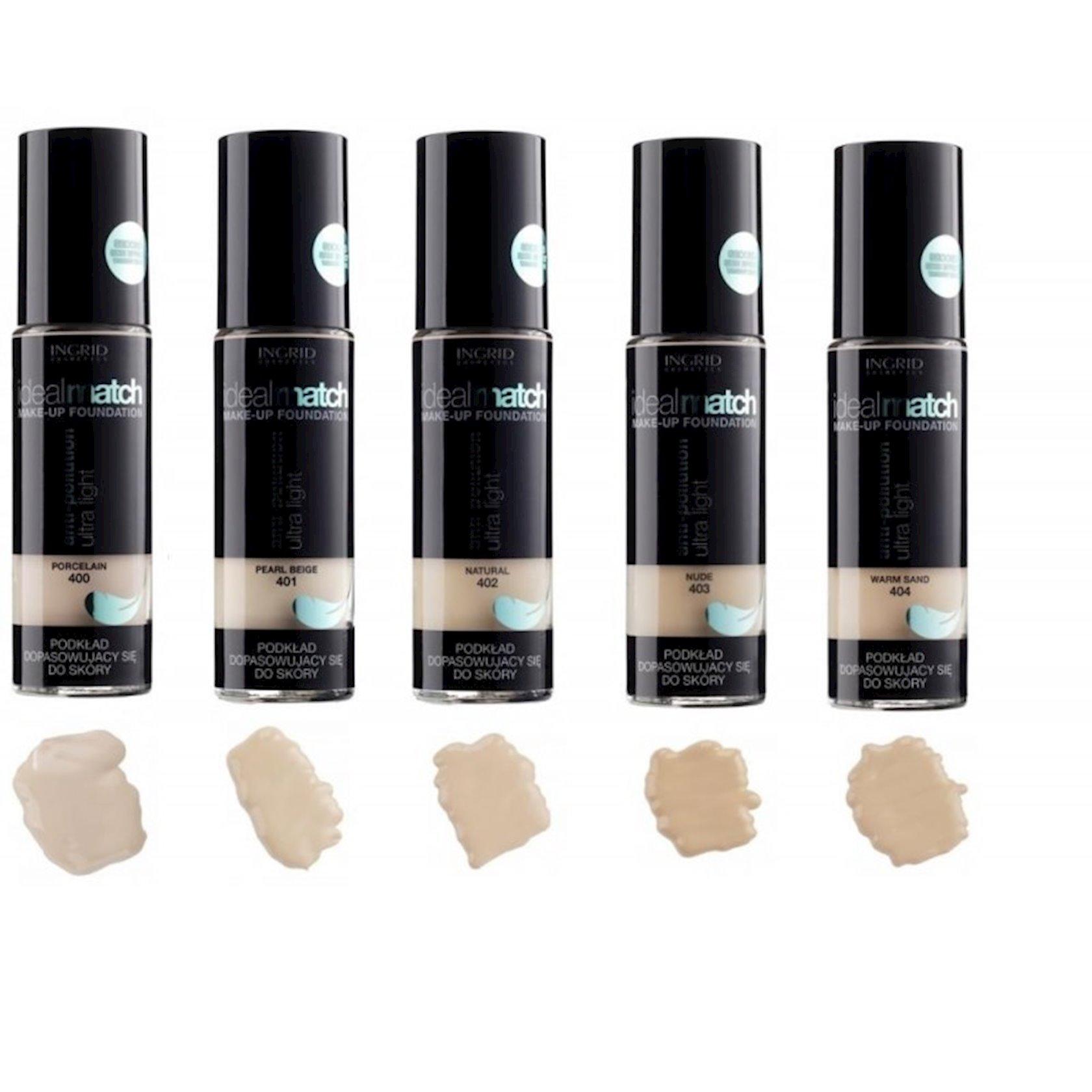 Tonal krem Ingrid Ideal Match Anti-pollution Ultra Light №401 30 ml