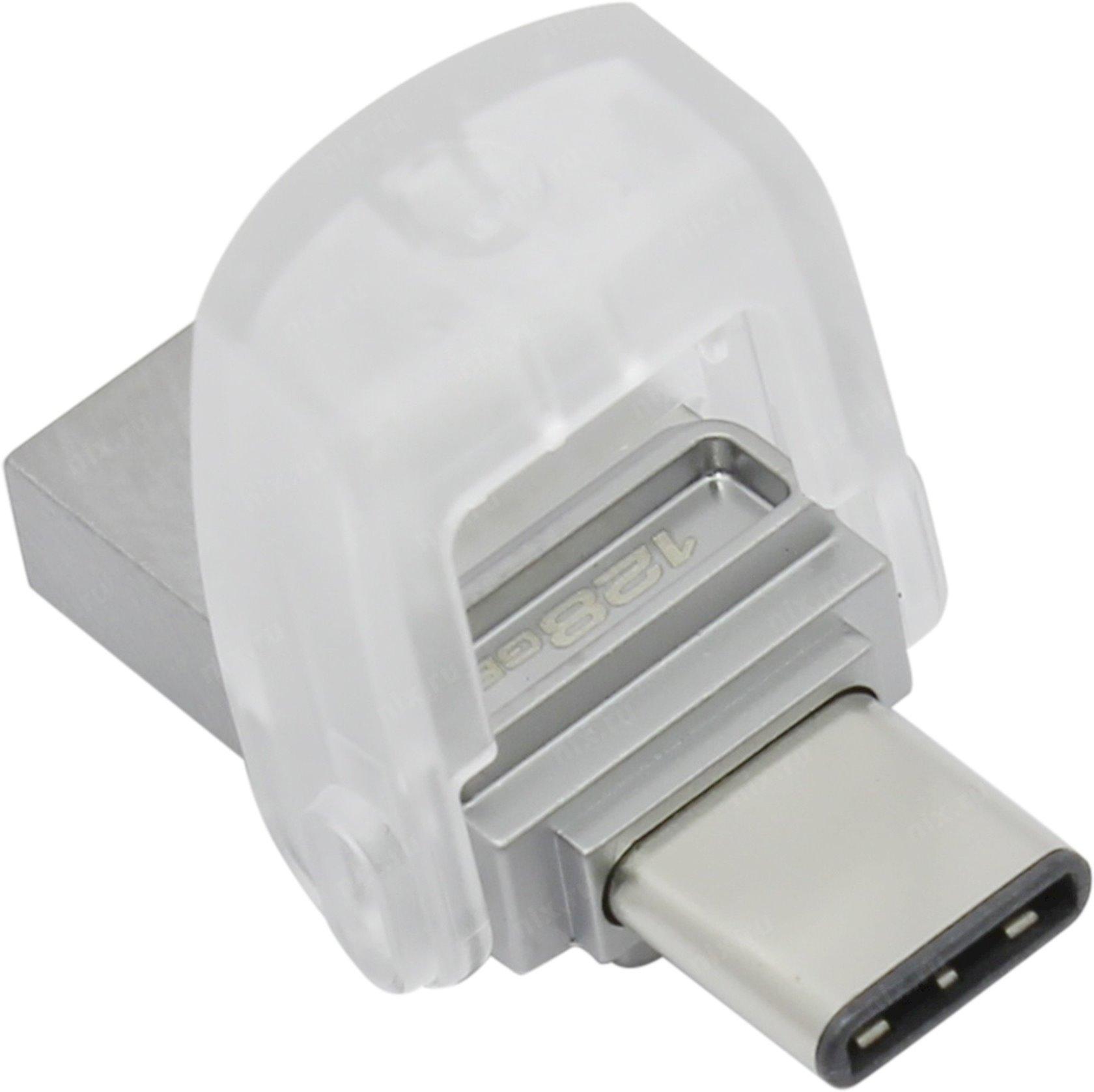 Flash yaddaş Kingston 128GB DT microDuo 3C, USB 3.0/3.1