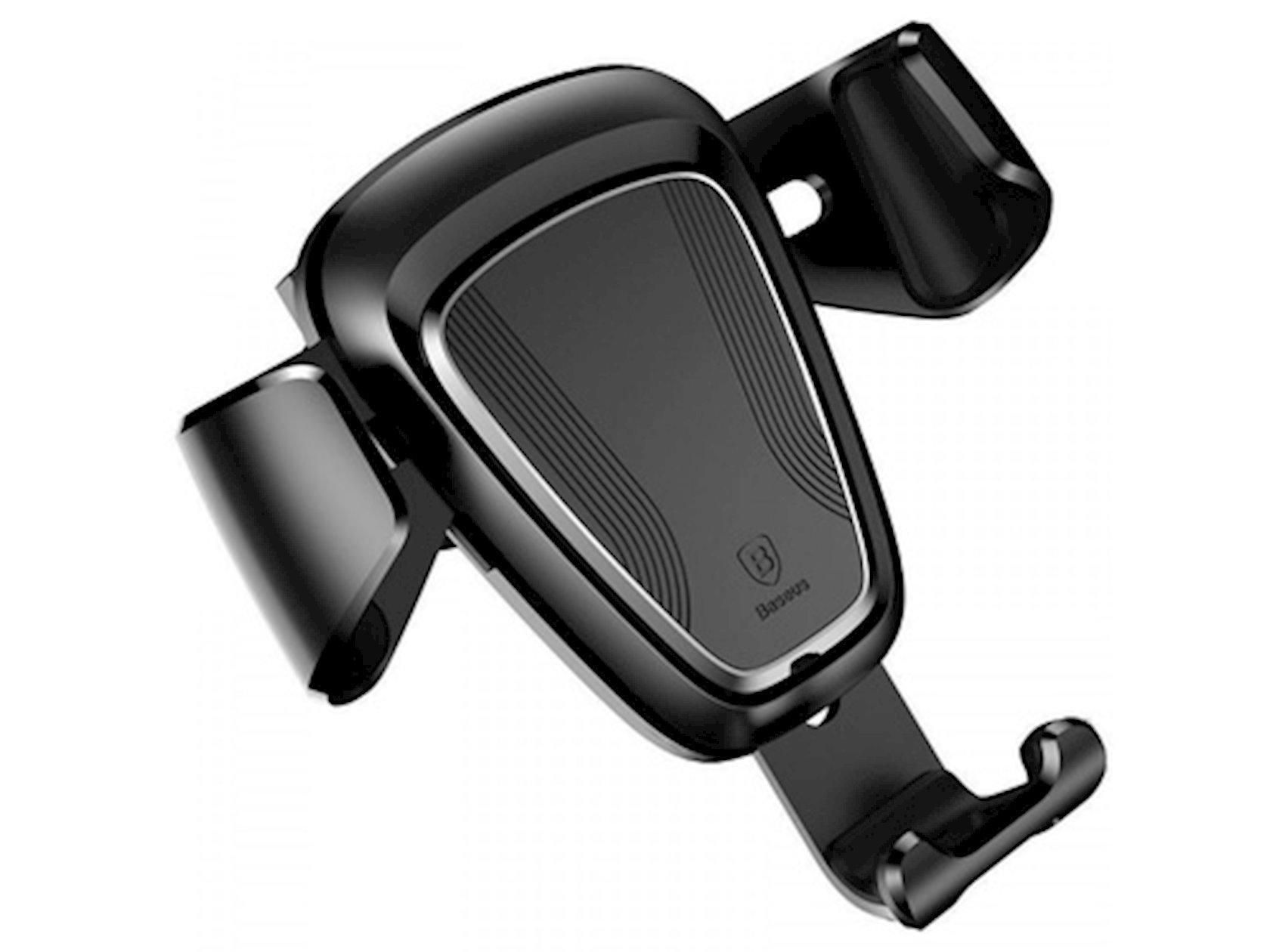 Avtotutacaq telefon üçün Baseus Gravity Car Mount Metal type SUYL-B01 Qara