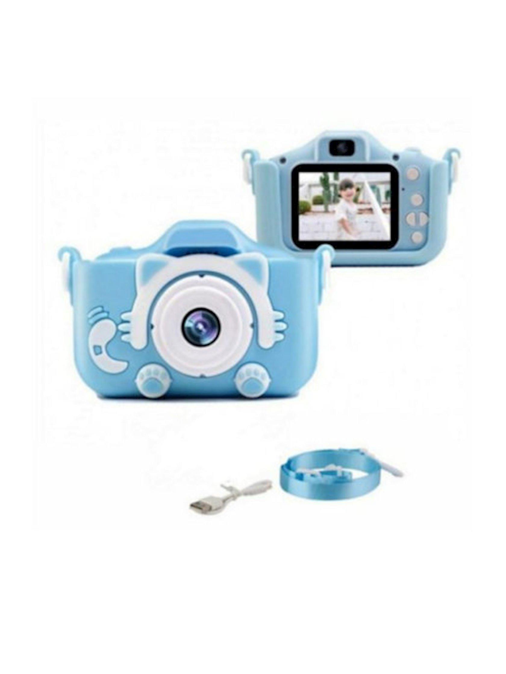 Uşaq fotoaparatı Rasik Pişik, mavi