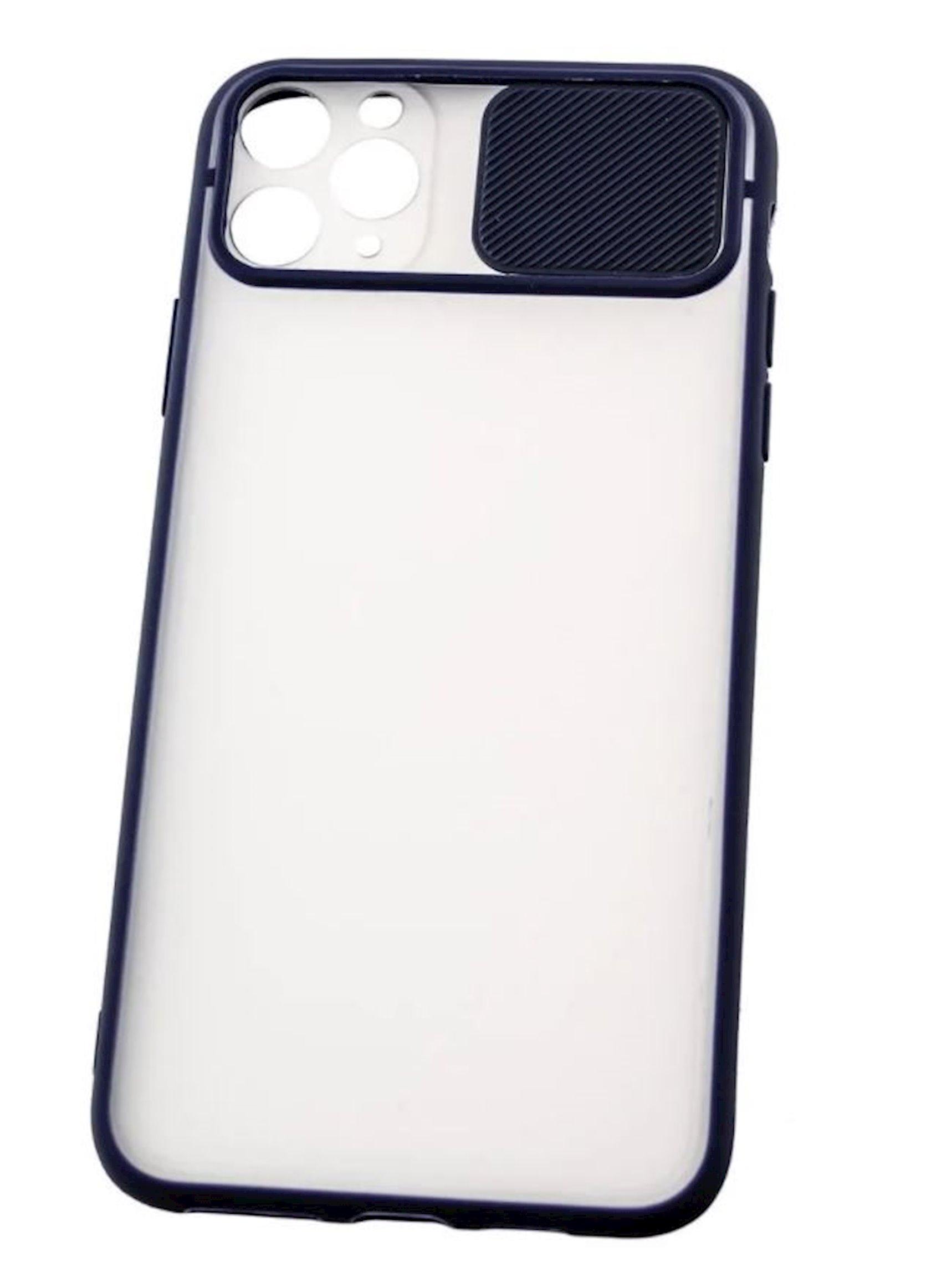 Çexol YO Camshield Color Apple iPhone 11 Pro Max üçün Blue