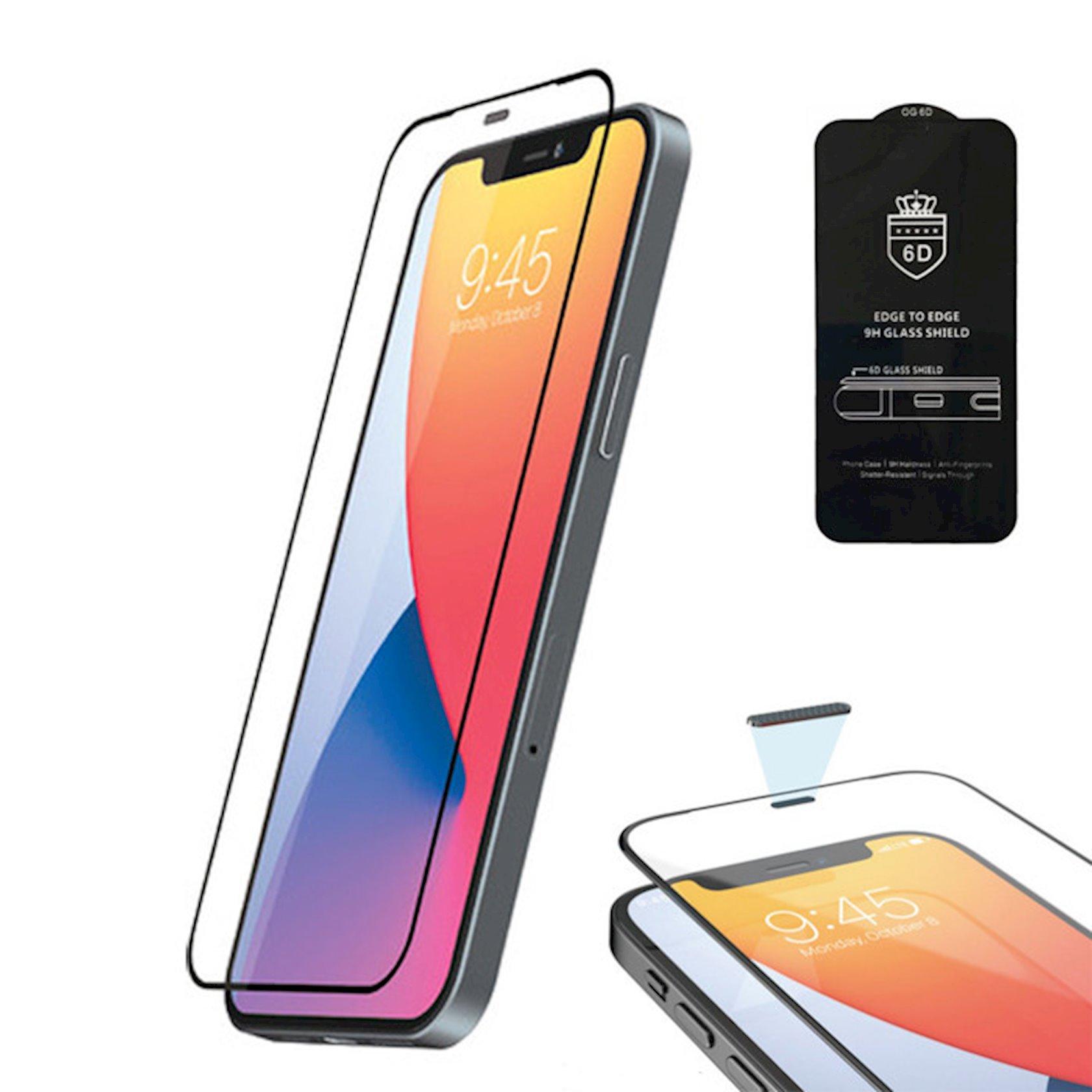 Qoruyucu şüşə OG 6D Premium Apple iPhone 11 Pro Max/Xs Max üçün Black