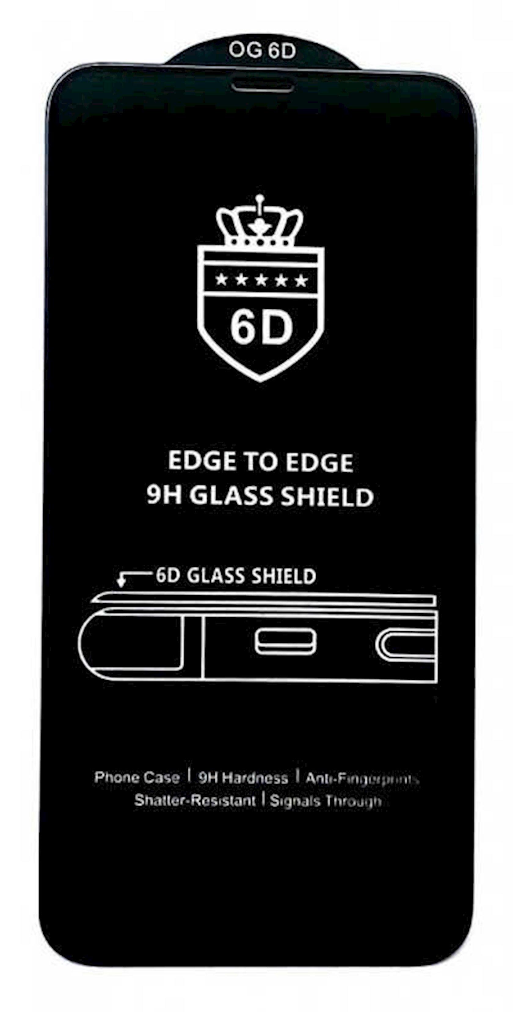 Qoruyucu şüşə OG 6D Premium Samsung A21s üçün Black