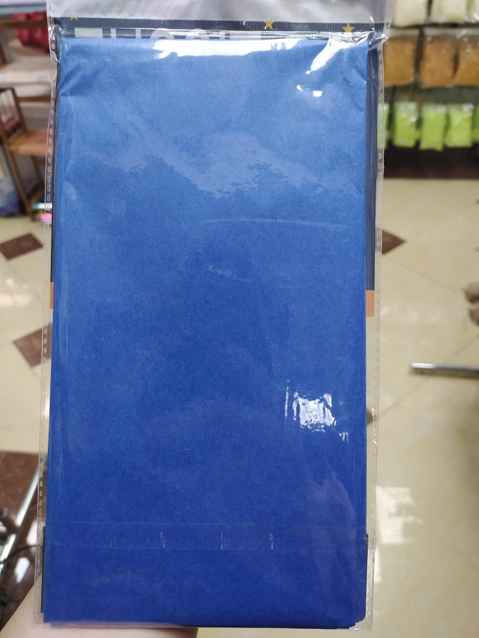 Qablaşdırma kağızı Tissue,göy,10 əd,50x50 sm