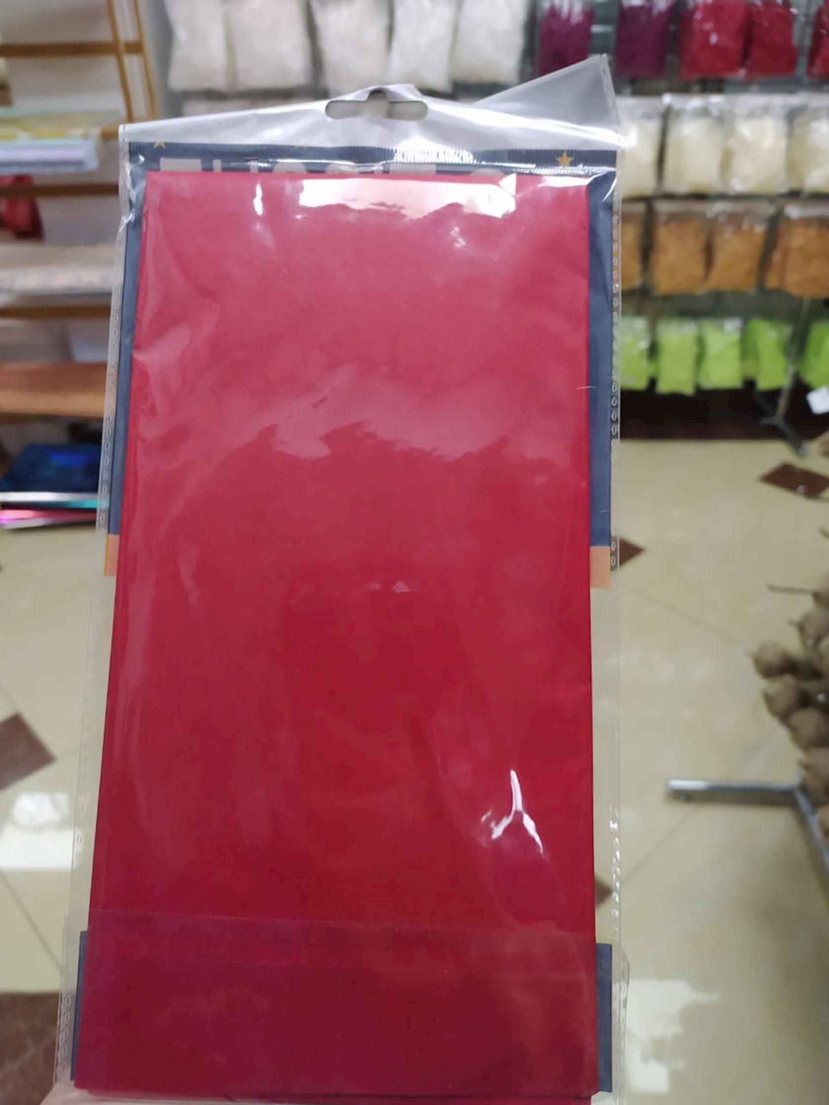 Qablaşdırma kağızı Tissue,qırmızı,10 əd,50x50 sm