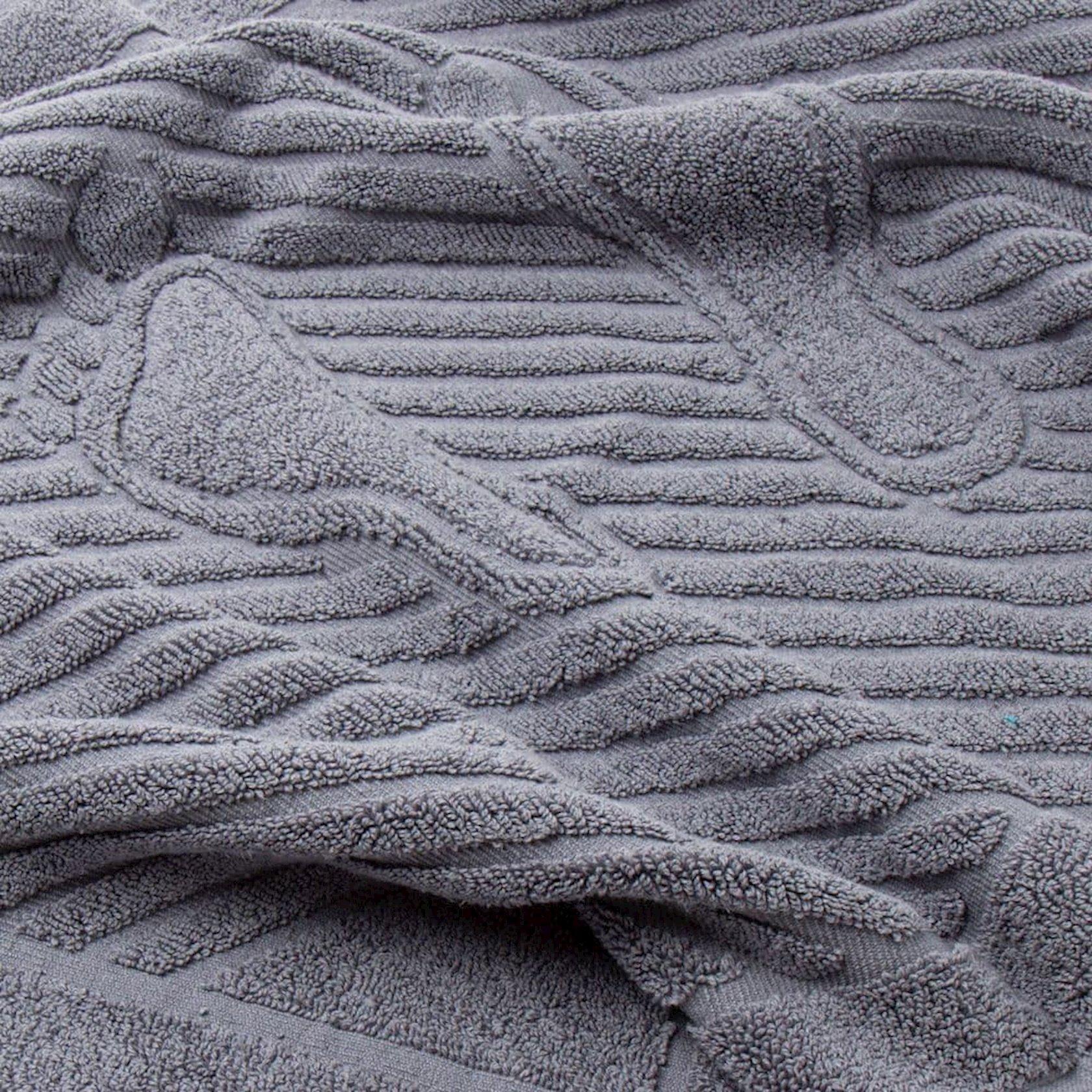 Ayaq dəsmalı ADT Orta boz 50x70, sıxlıq 700 qr/m²