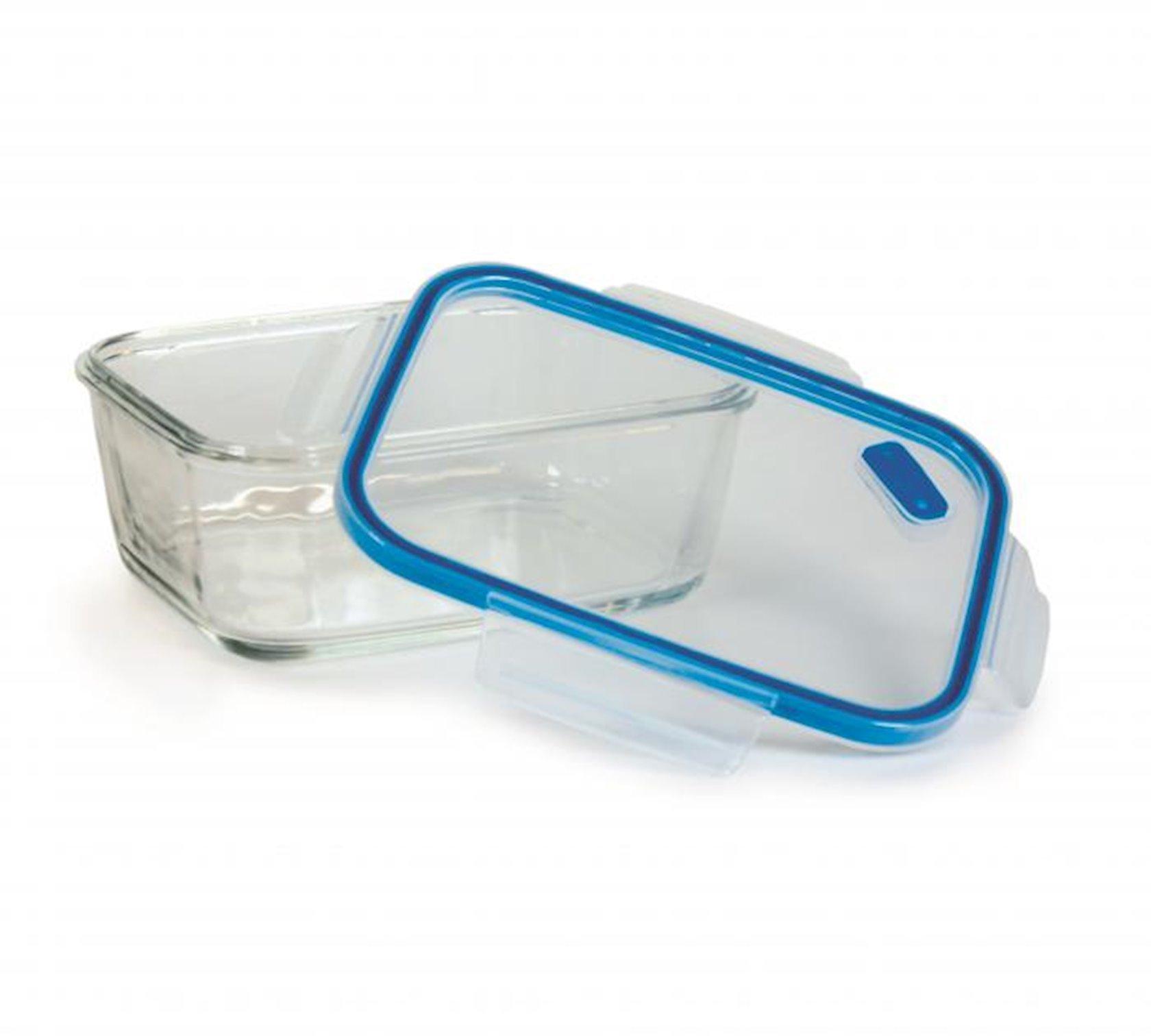 Saxlama qabı Snips SnipsLock Glass, 0.8 l, göy, düzbucaqlı