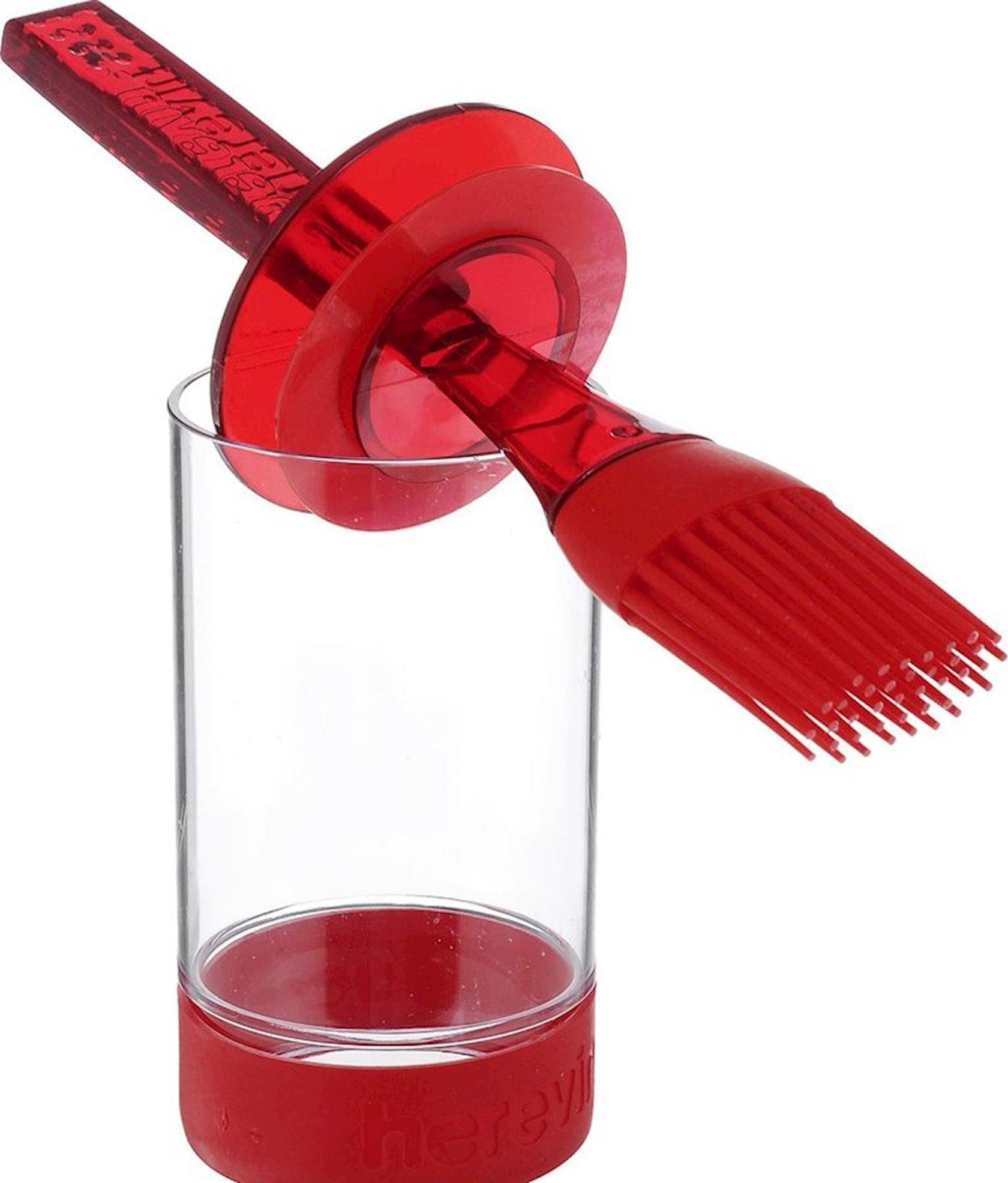 Sous qabı Herevin fırça ilə, qırmızı, yaşıl, narıncı, bənövşəyi