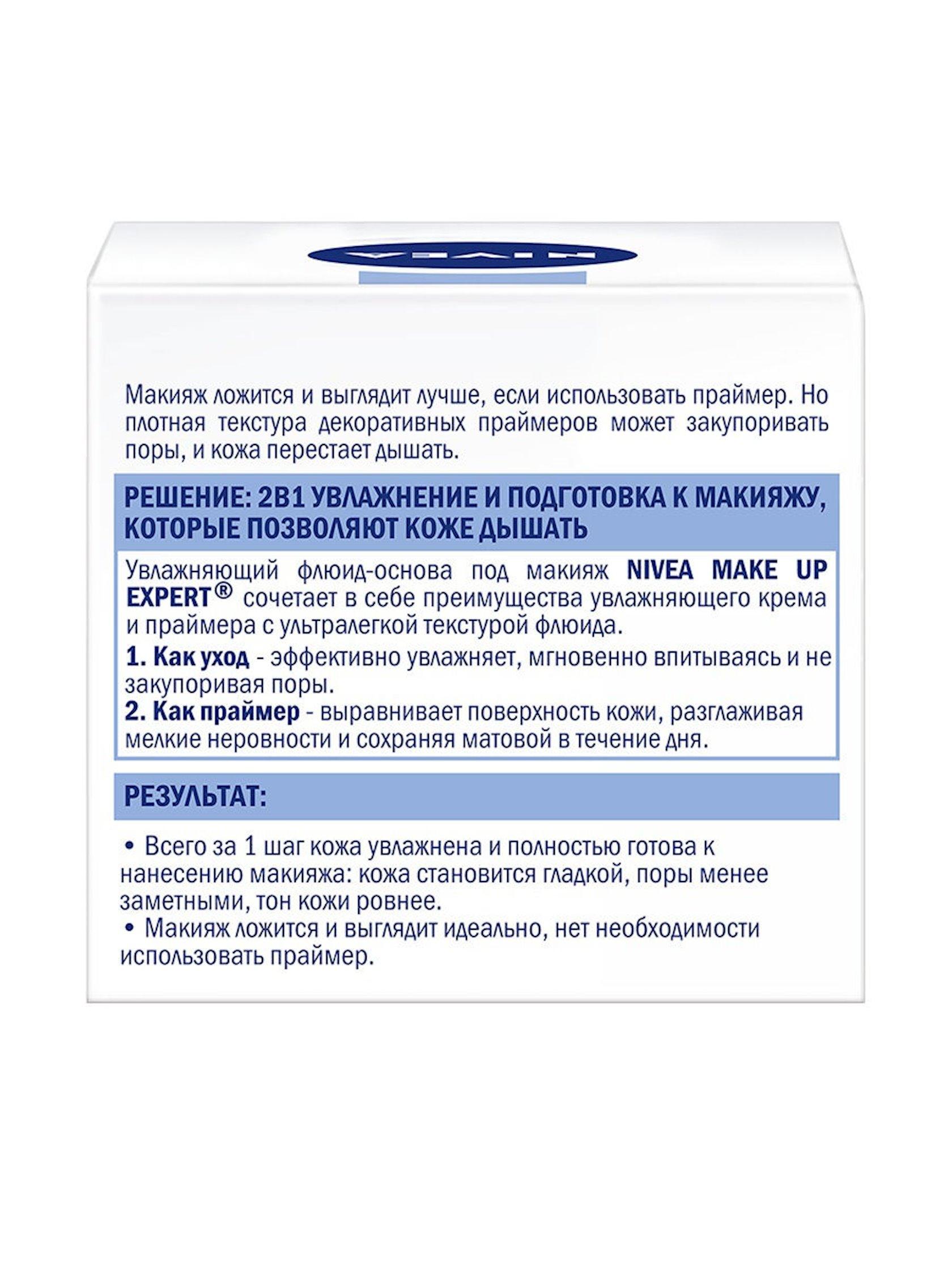 Krem-flüid üz üçün Nivea Make Up Expert 2si 1də makiyaj bazası normal və qarışıq dəri üçün 50 ml