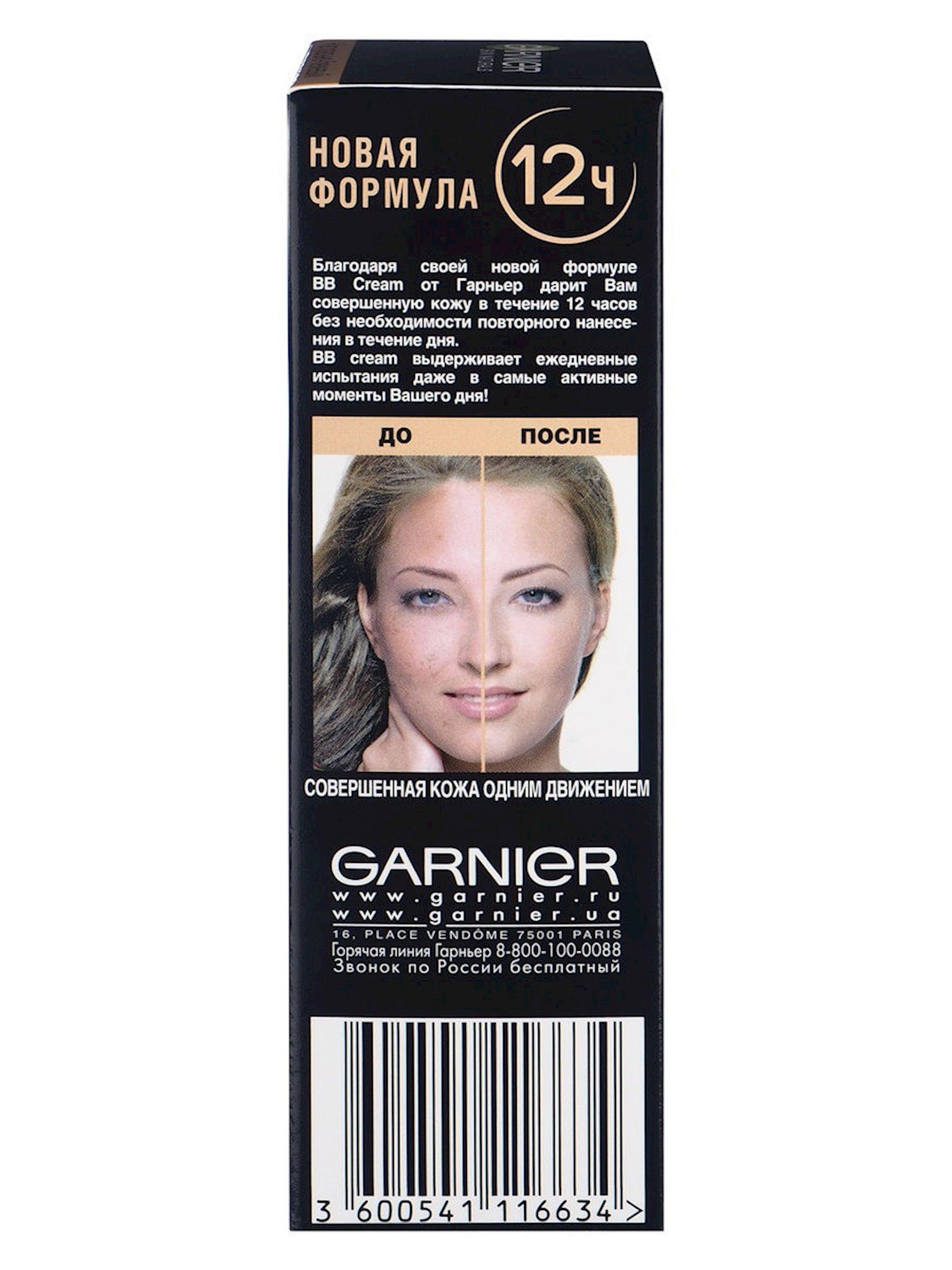 BB-krem normal dəri üçün Garnier Skin Naturals Mükəmməlliyin sirri Təbii bej 50 ml