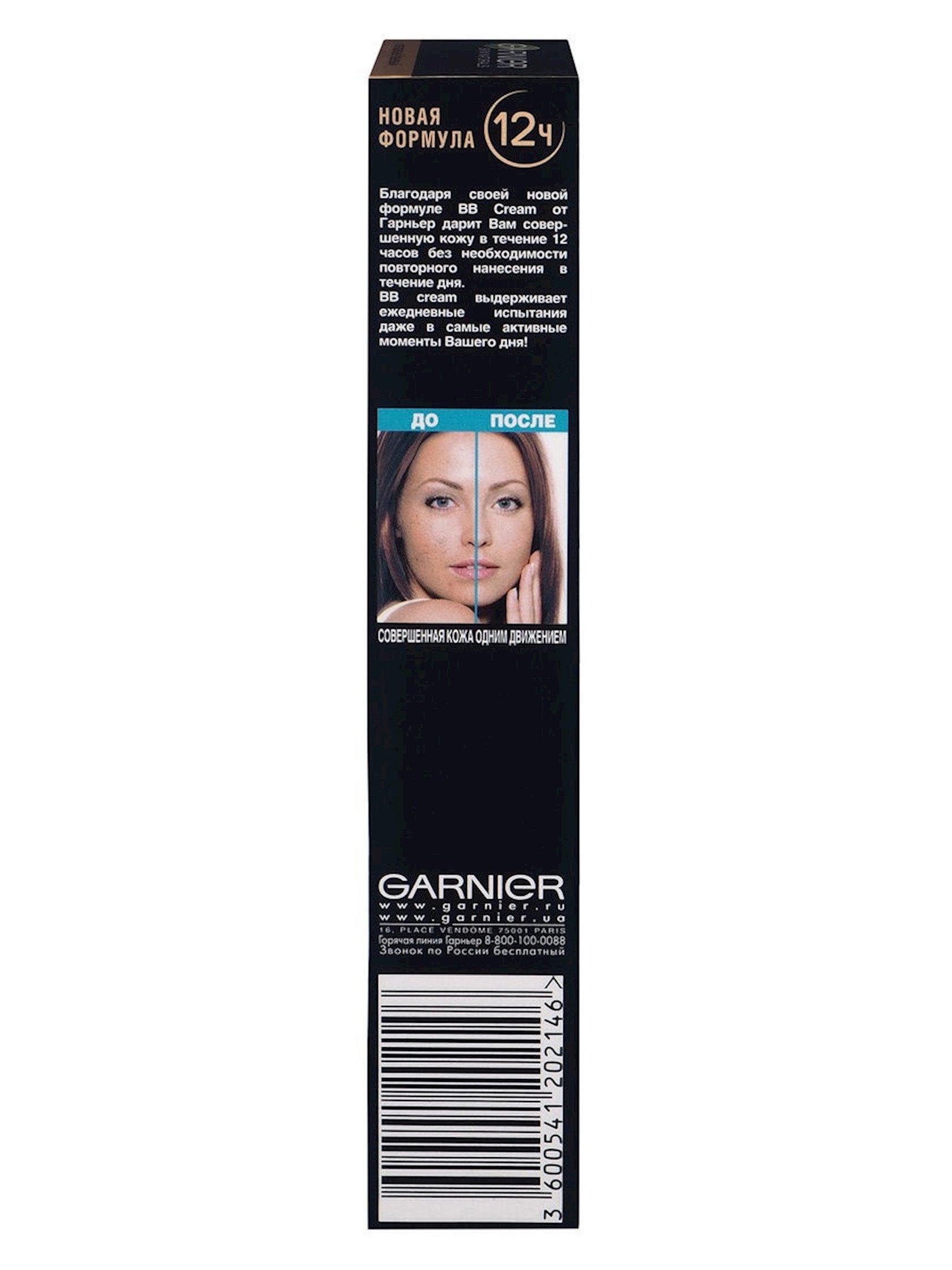 BB-krem qarışıq və yağlı dəri üçün Garnier Skin Naturals Mükəmməlliyin sirri Təbii bej 40 ml