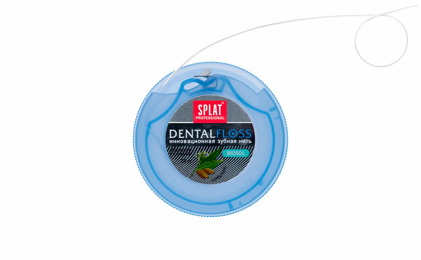 Diş ipi Splat Professional Dental Floss Antibakterial həcmli kardamon ətri ilə 30 metr