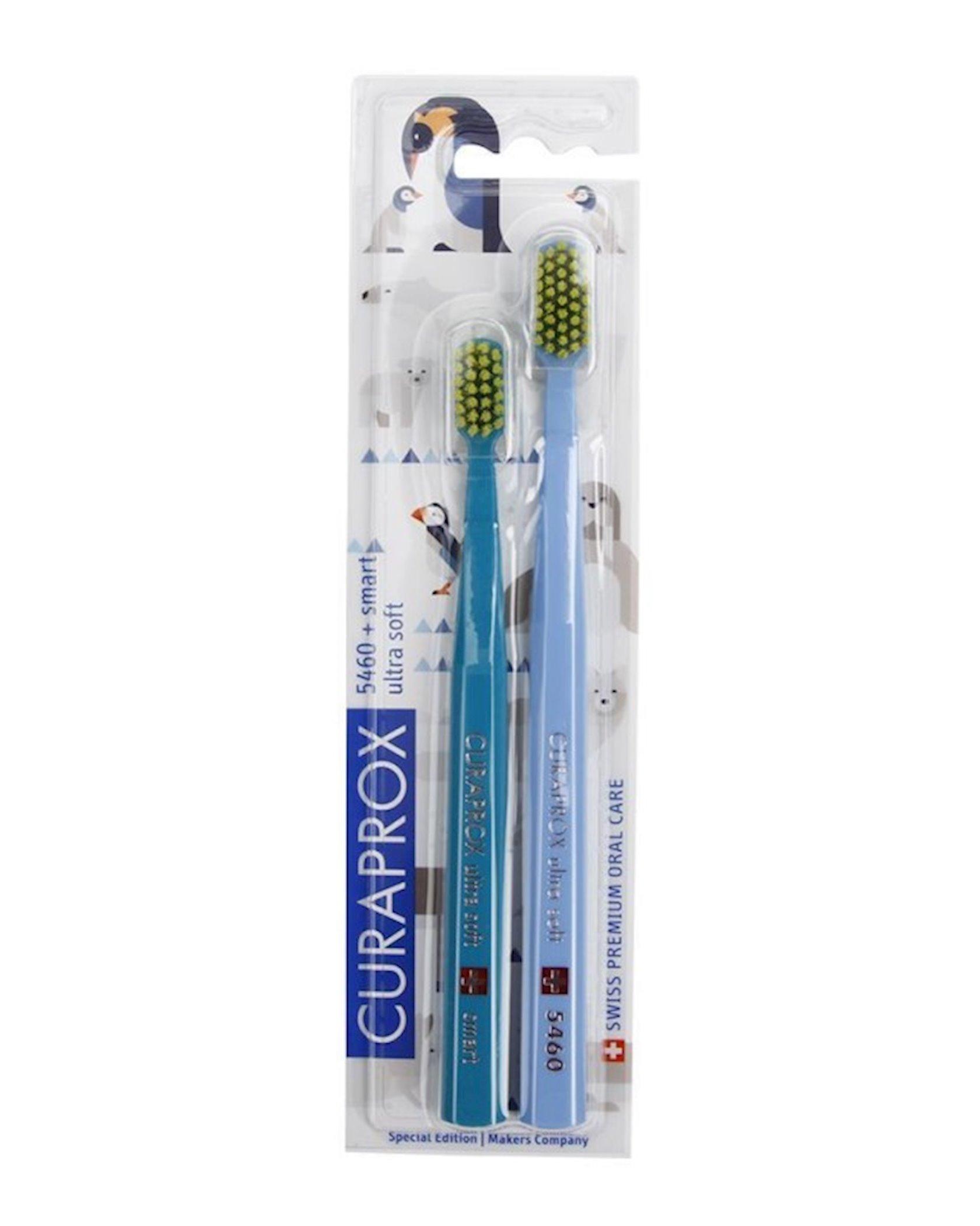 Diş fırçaları dəsti Curaprox Ultrasoft Animal Family Edition Duo, müxtəlif rənglər