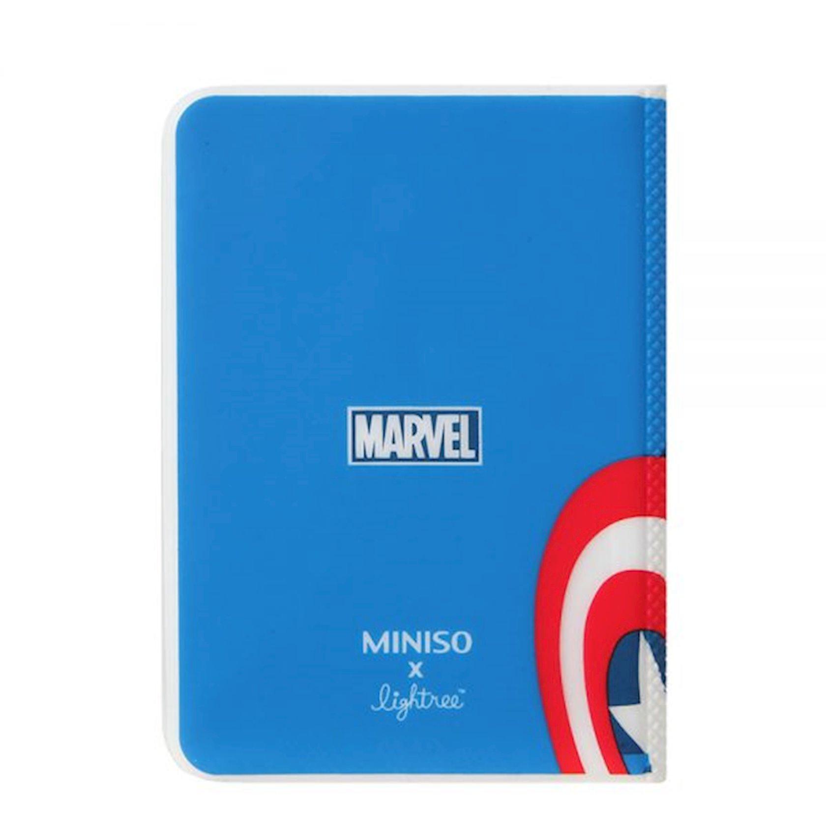 Pasport üçün üzlük Miniso Marvel Passport Cover, Captain America, Kapitan Amerika, göy