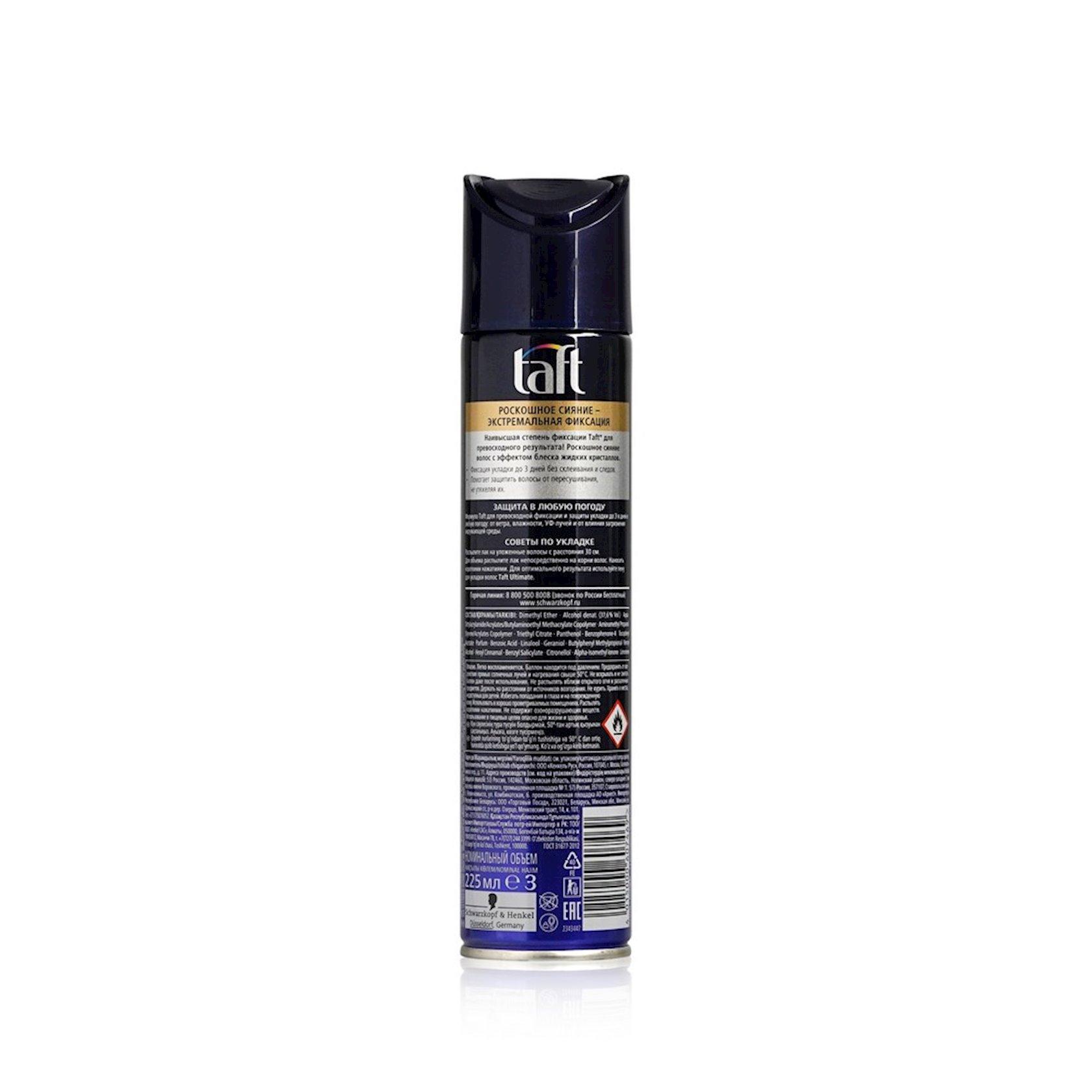 Saç lakı Taft Ultimate Ekstremal fiksasiya 225 ml