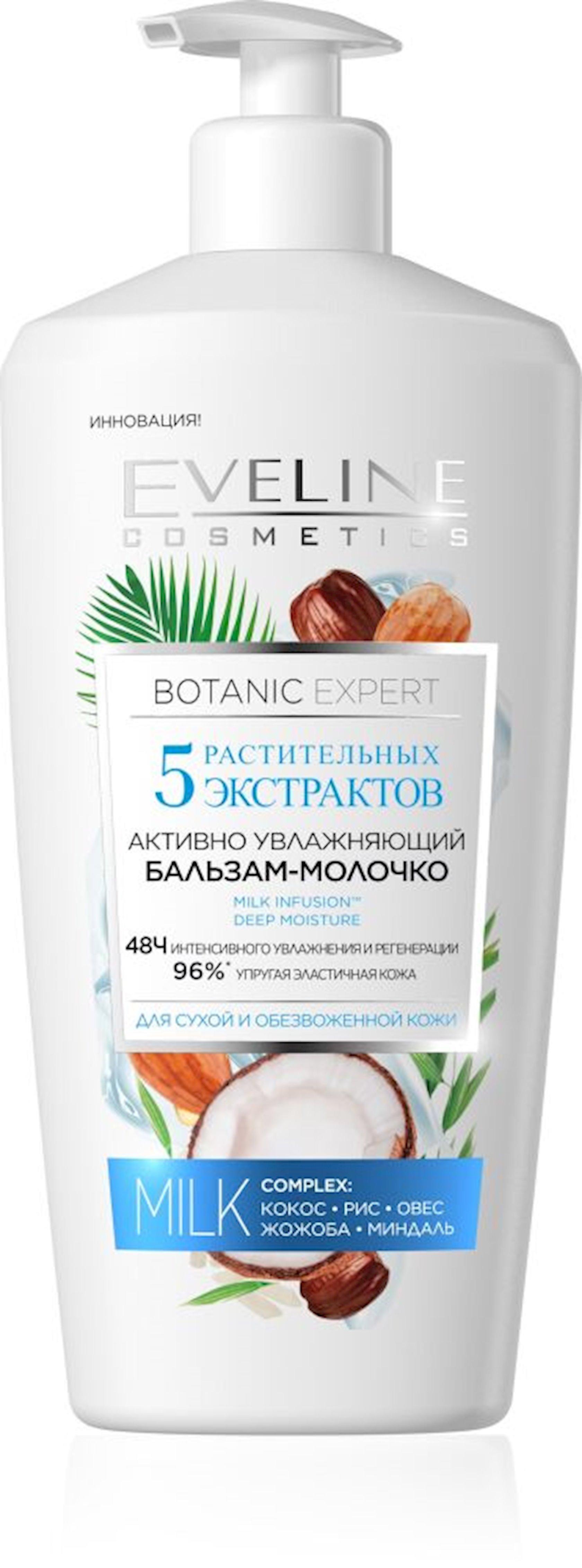 Bədən üçün süd Eveline Cosmetics Botanic Expert Balzam 350ml