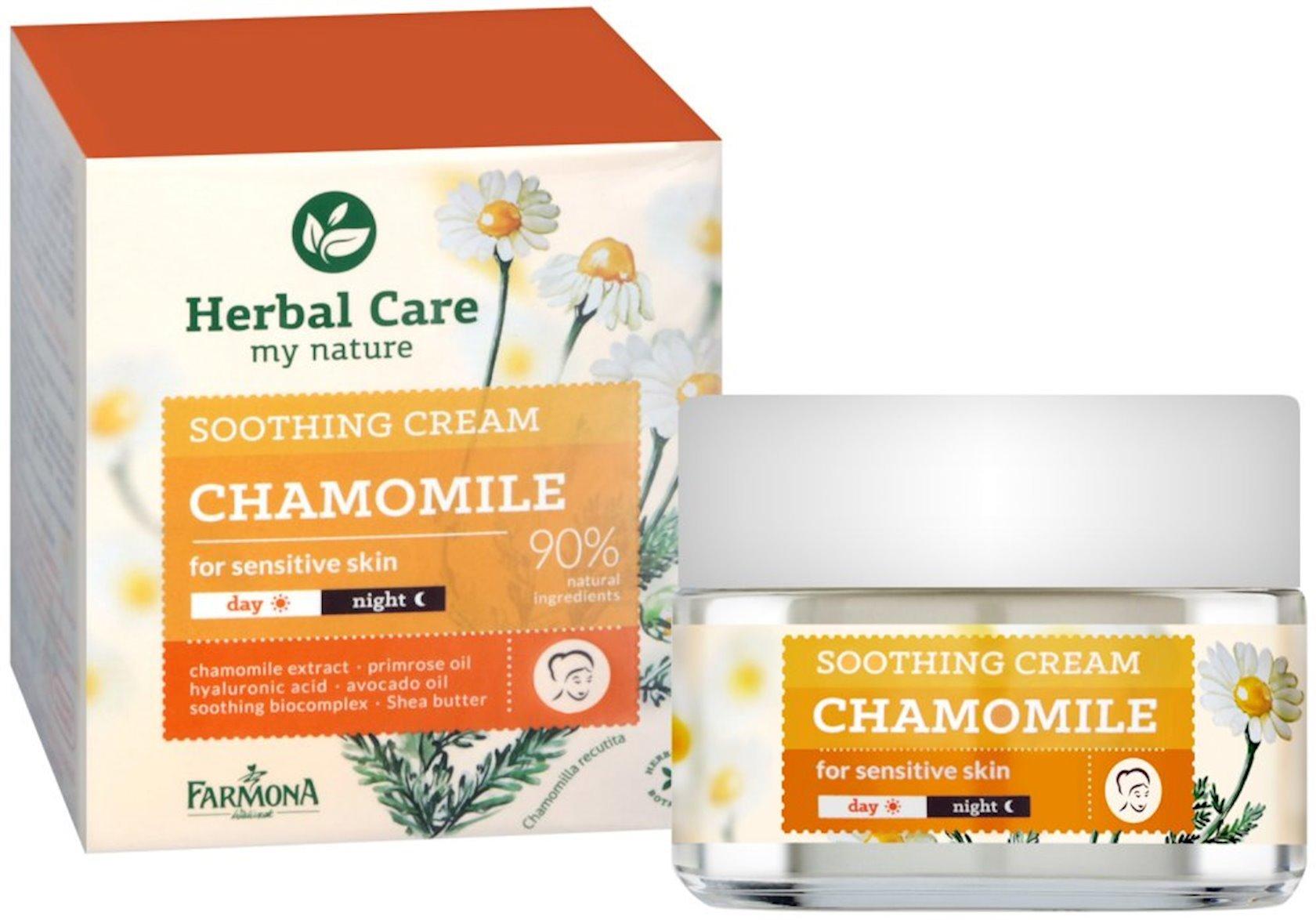 Sakitləşdirici krem üz üçün  Farmona Herbal Care Çobanyastığı