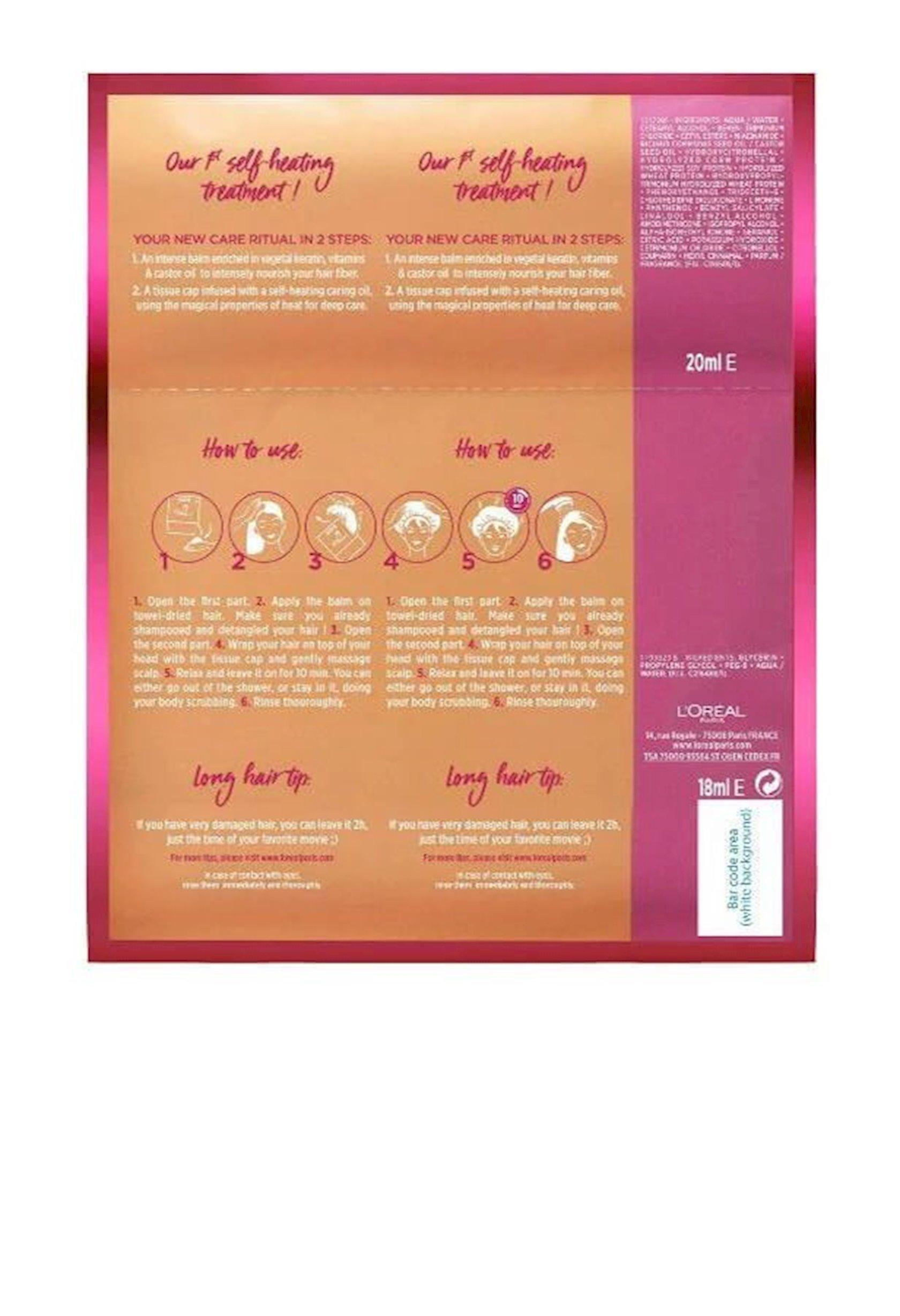 Buxar maskası L'Oréal Paris Elseve Arzulanan uzunluq, intensiv bərpa, 20 ml+18 ml