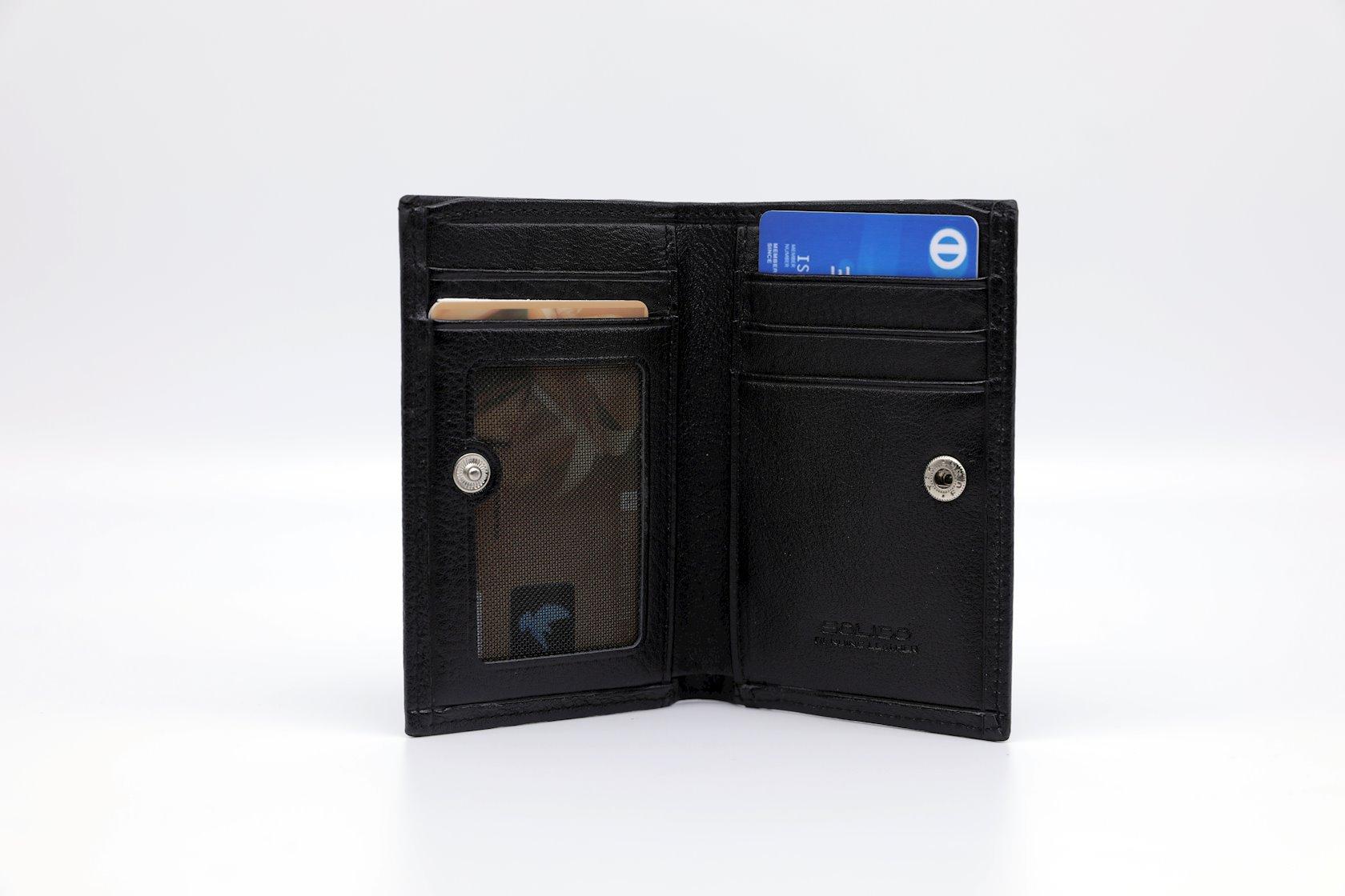 Kredit kartları qabı Solido SU-301.1 qara,naxışsız