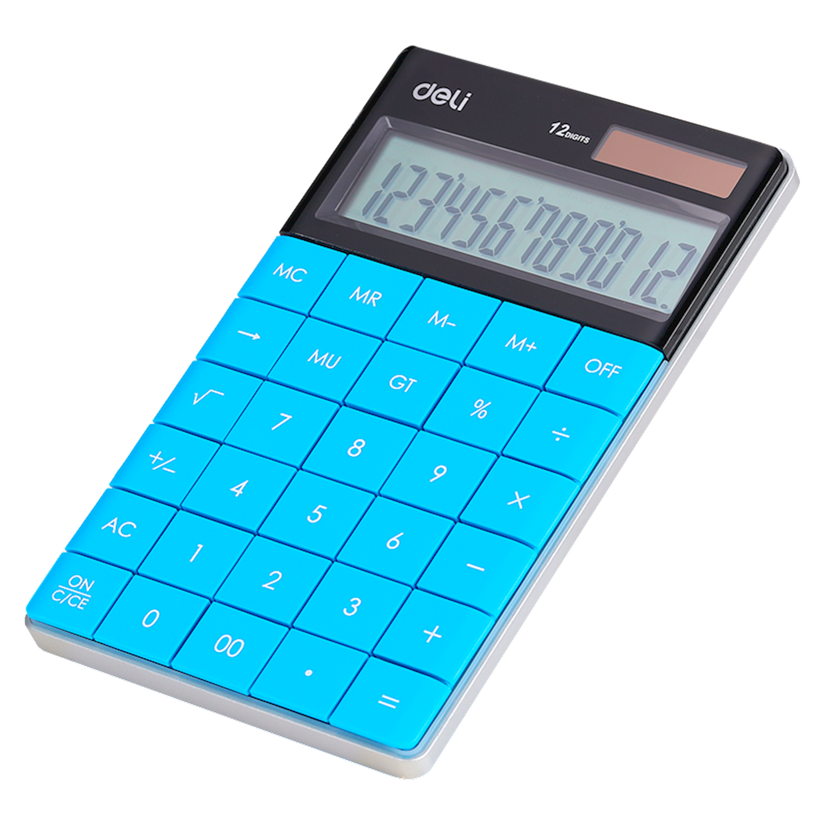 Kalkulyator DELI Office, mavi