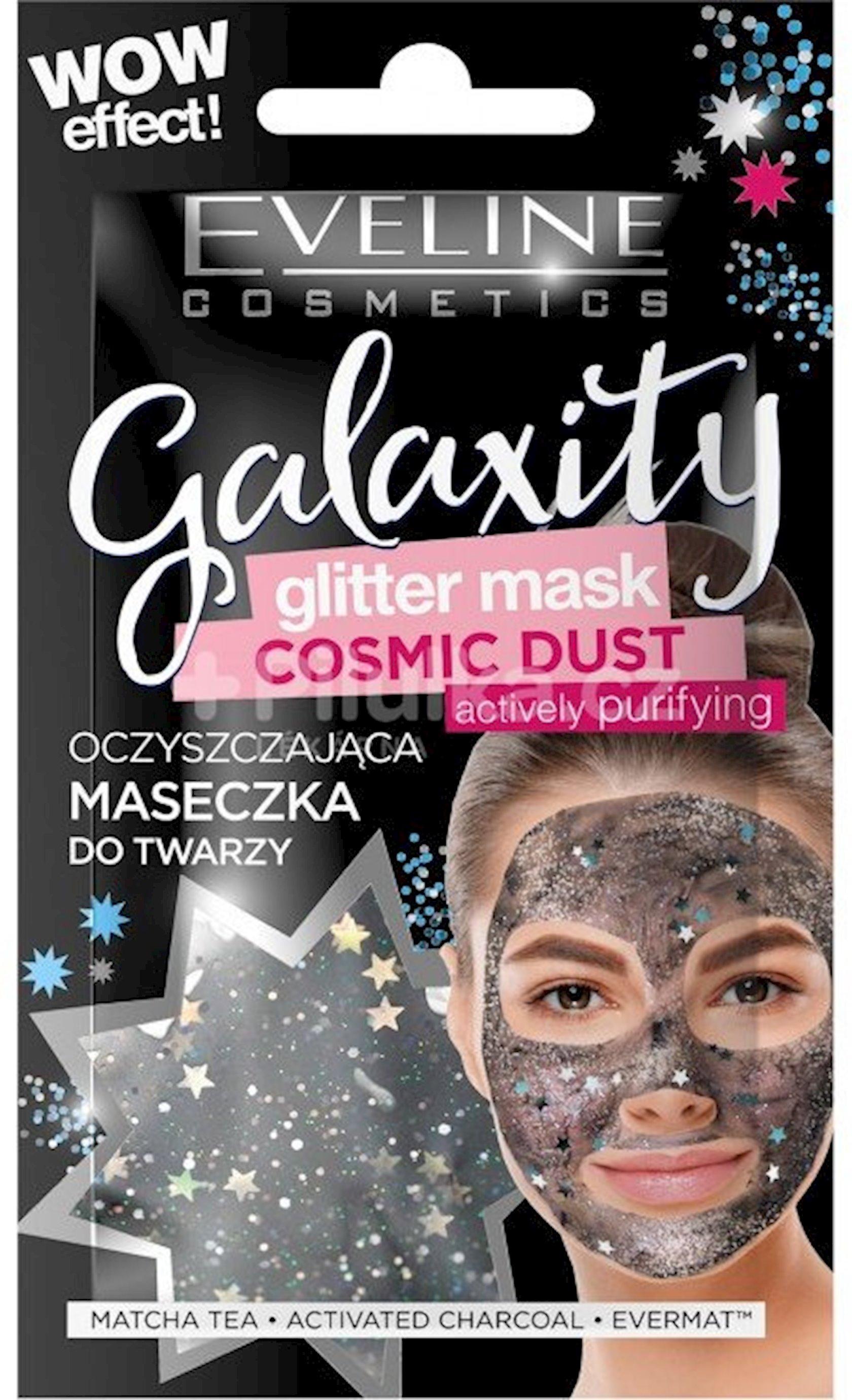 Təmizləyici maska Eveline Cosmetics Galaxity parıltılı