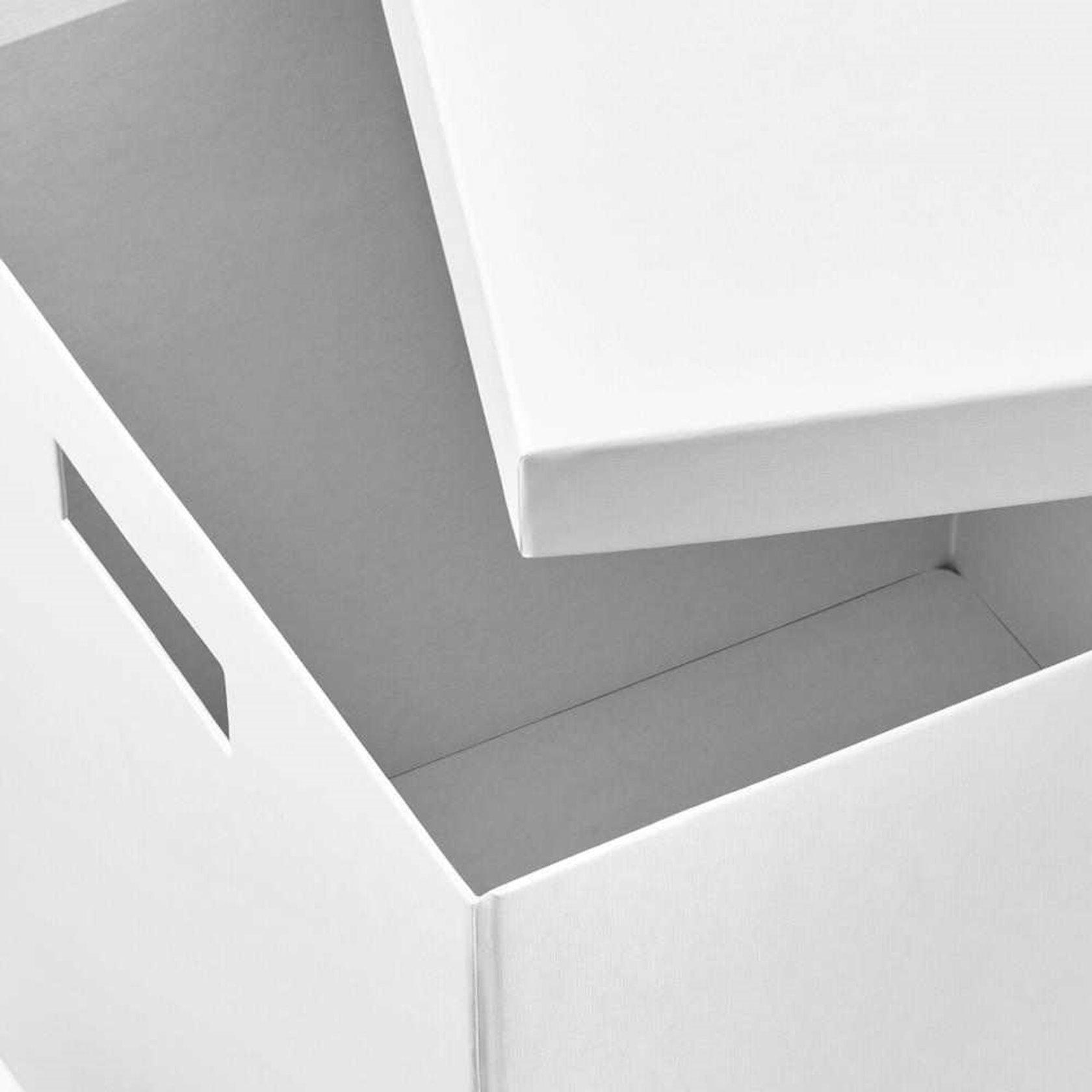 Qapaqlı qutu Ikea Tjena, белый, 32x35x32sm