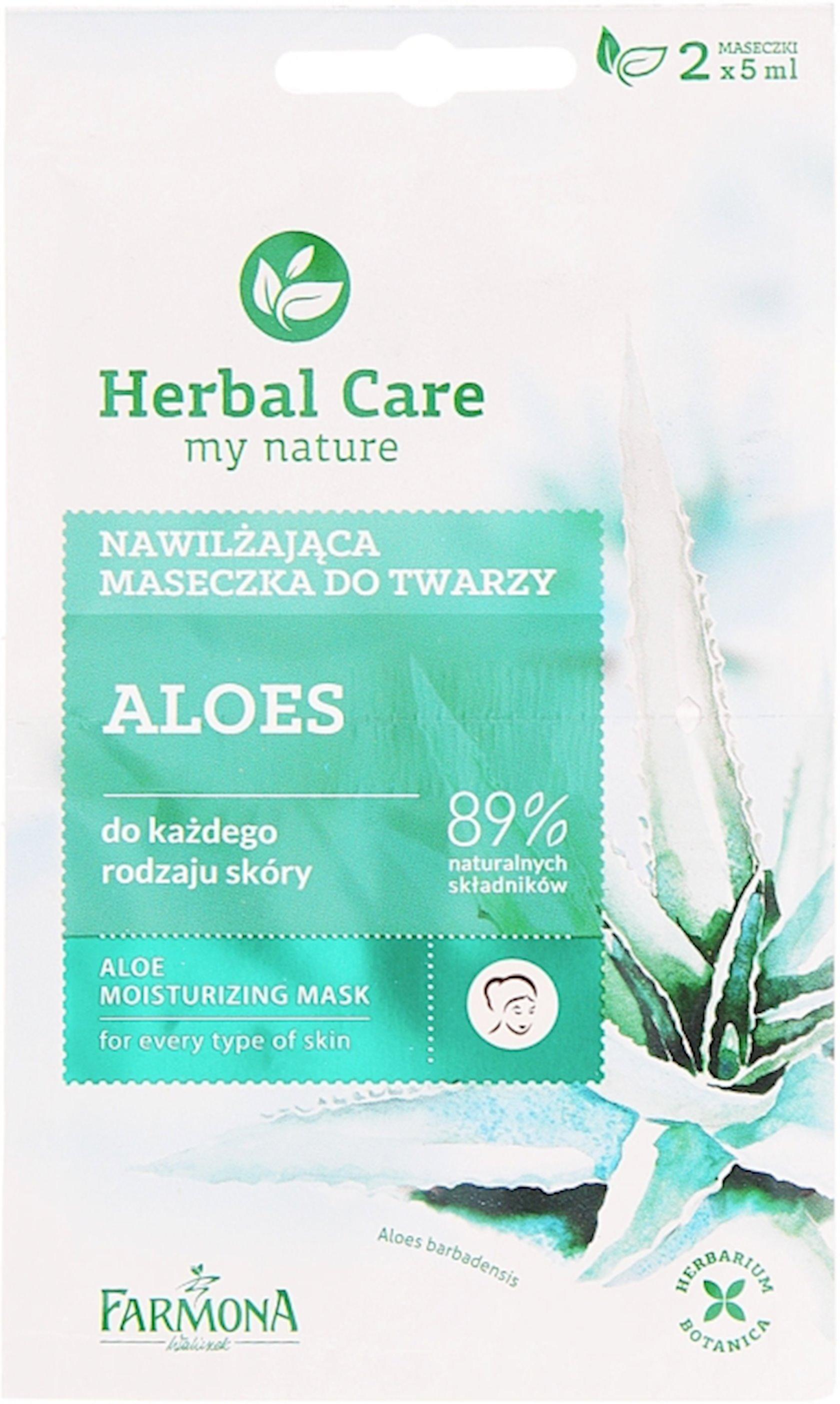 Maska üz üçün Farmona Herbal Care Aloe Vera Nəmləndirici