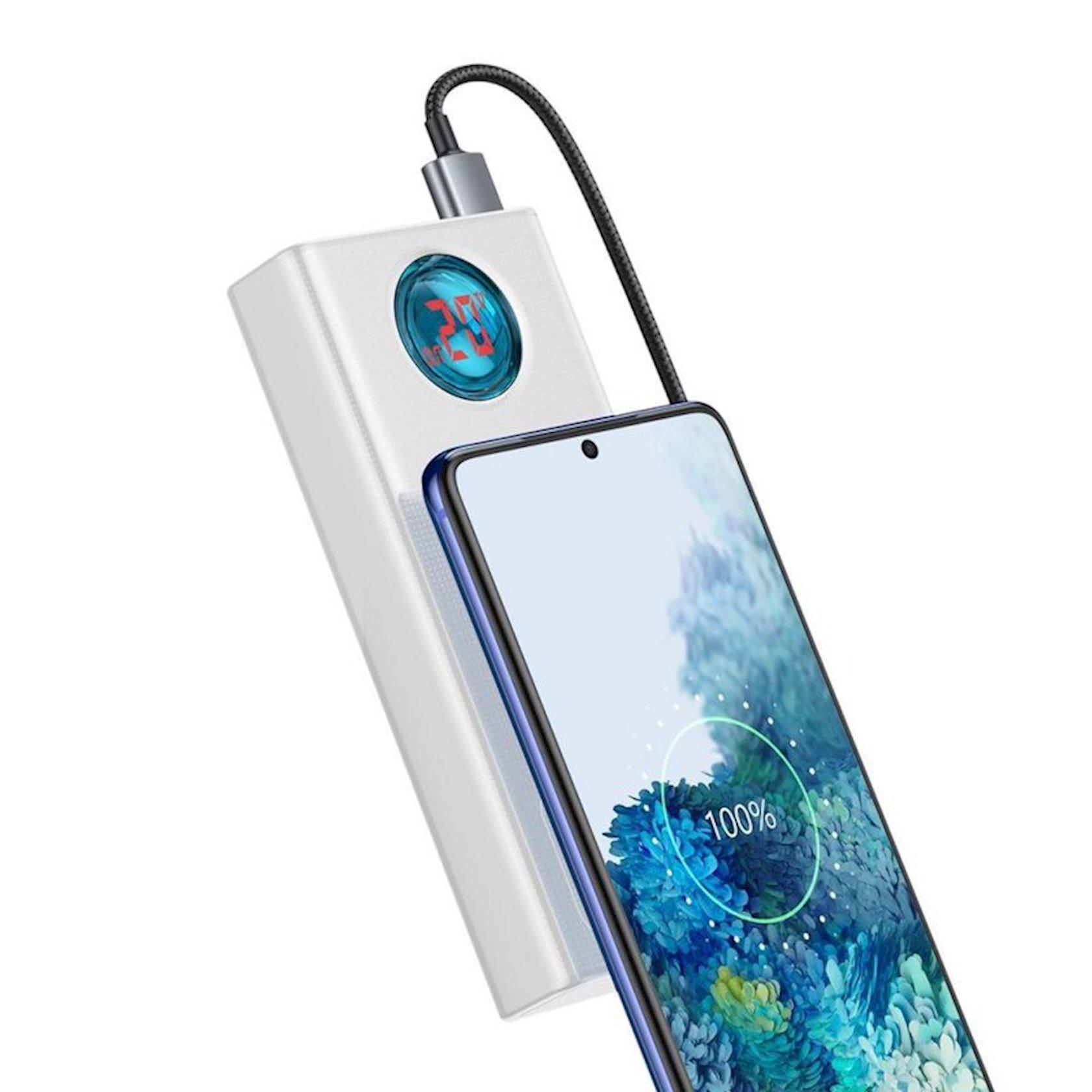 PowerbankBaseus Amblight Digital Display Quick Charge Power Bank 30000mAh White