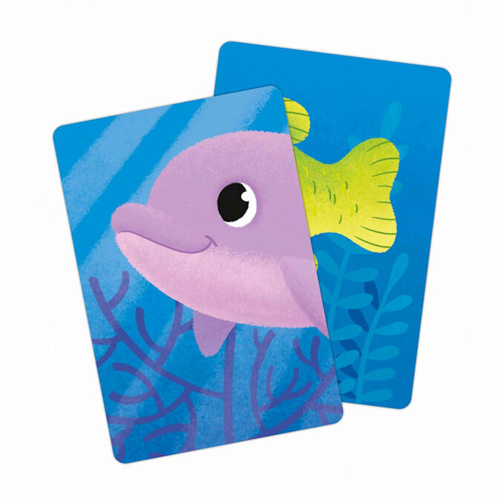 """Kart oyunu """"Геодом"""" Uşaqlar üçün memori. Okean"""