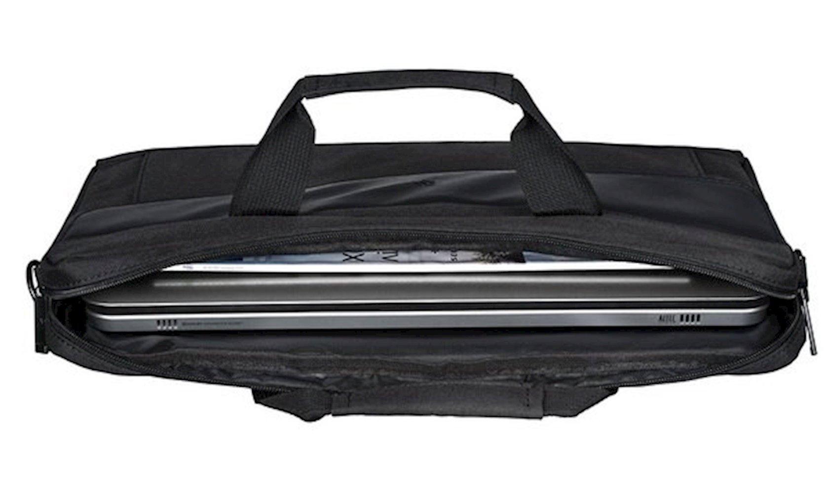 Çanta noutbuk üçün 2E Laptop Bag, Fashion 16, Black