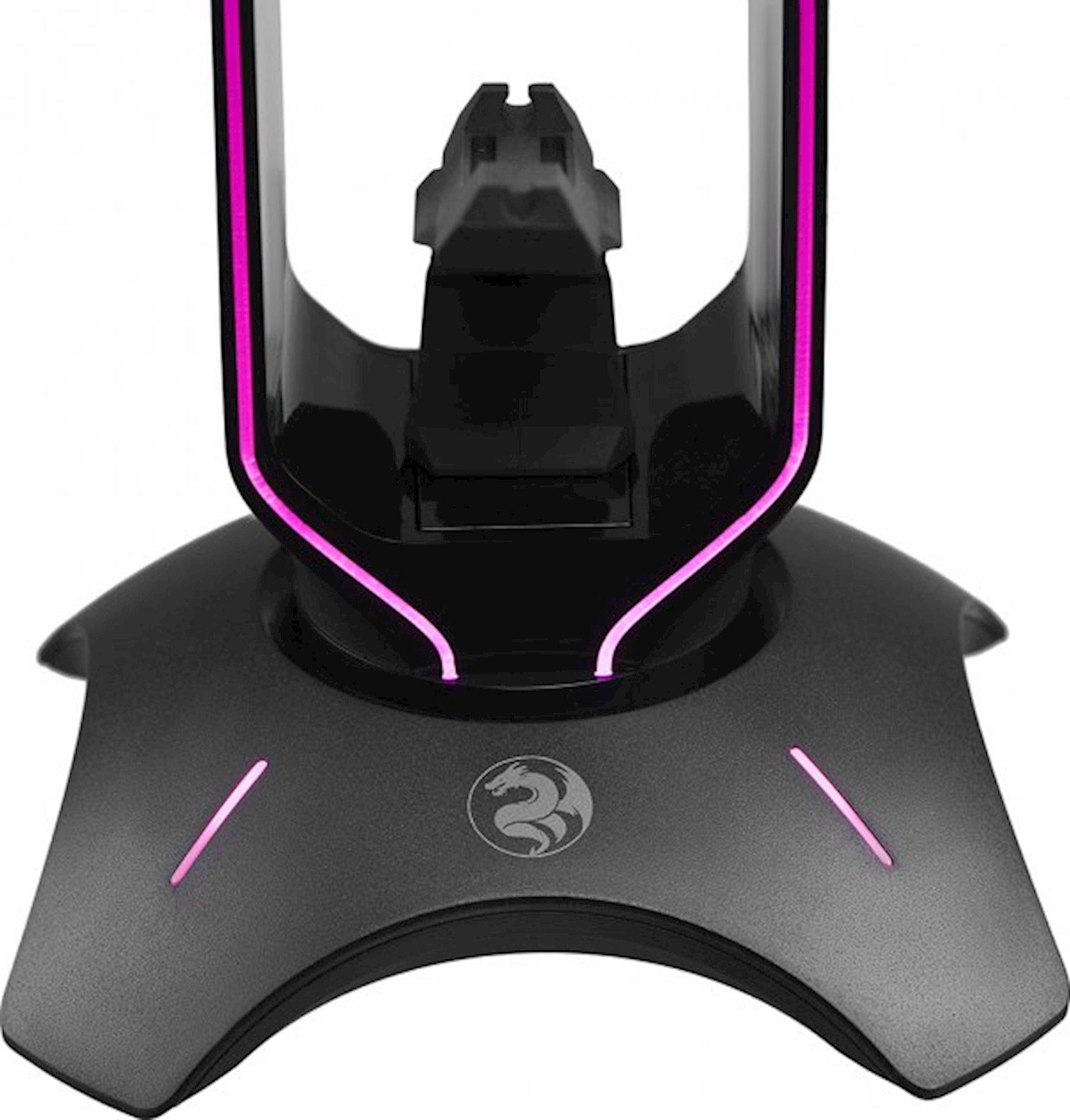 Qarnitur üçün altlıq 3-ü 1-də 2E Gaming Headset Stand RGB USB Black (2E-GST310UB)