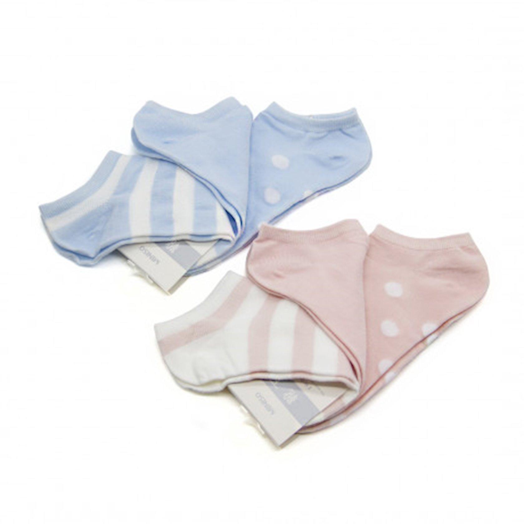Corab Miniso Women's Classic Striped Low-Cut Socks,Müxtəlif rənglər,(3 cüt)