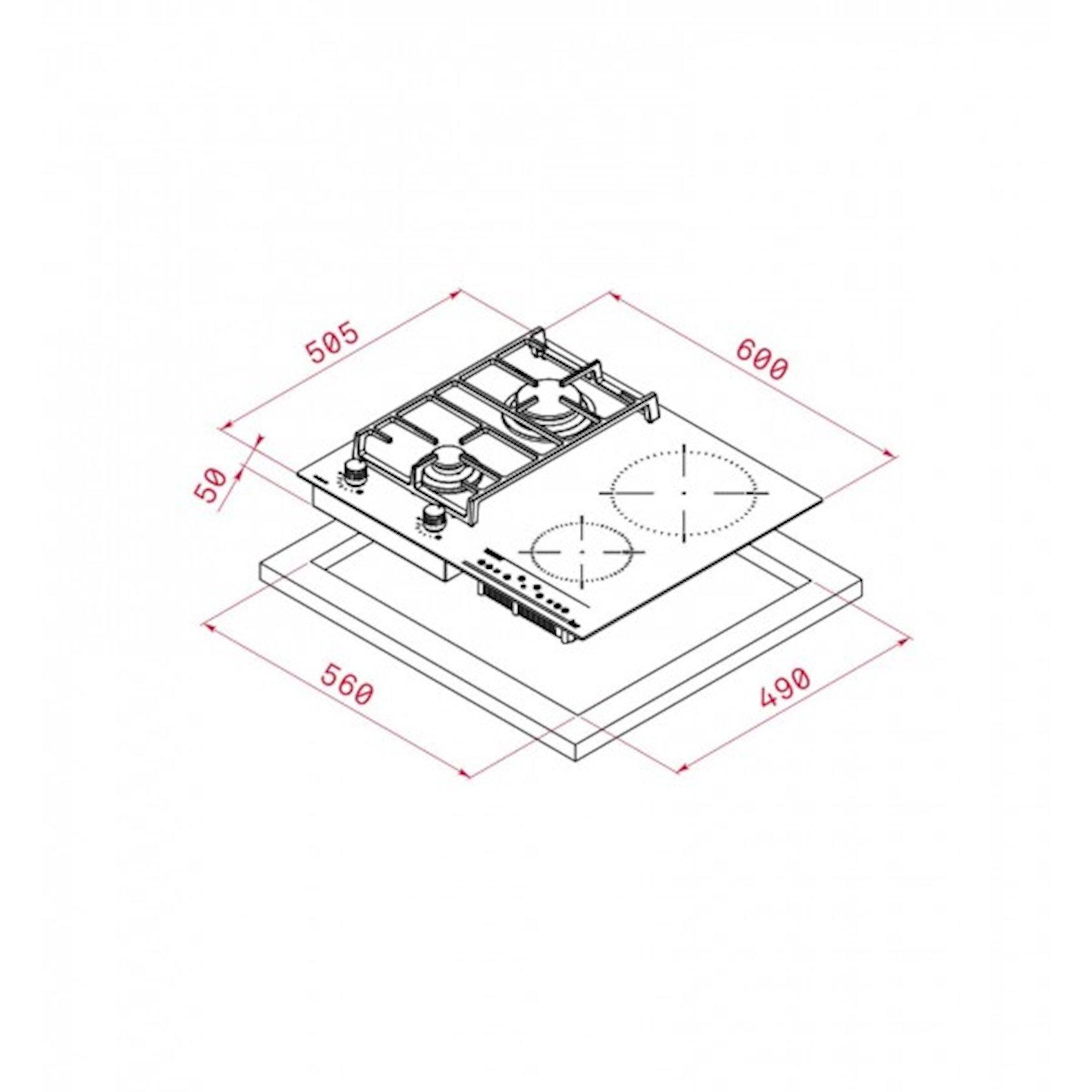 Bişirmə səthi Teka Twin IG 620 2G AI AL CI