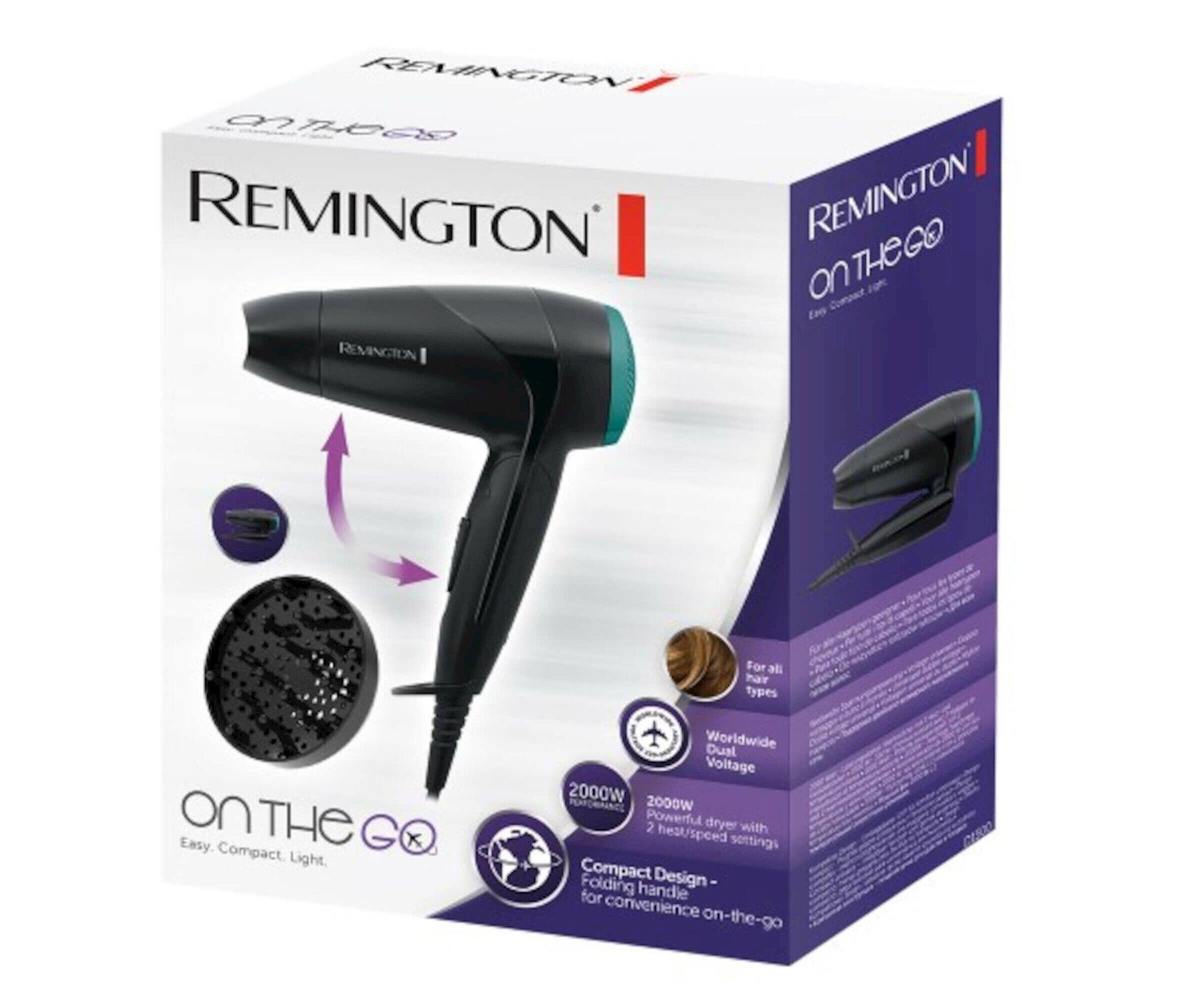 Fen Remington D1500 Travel Dryer Compact 2000 Black