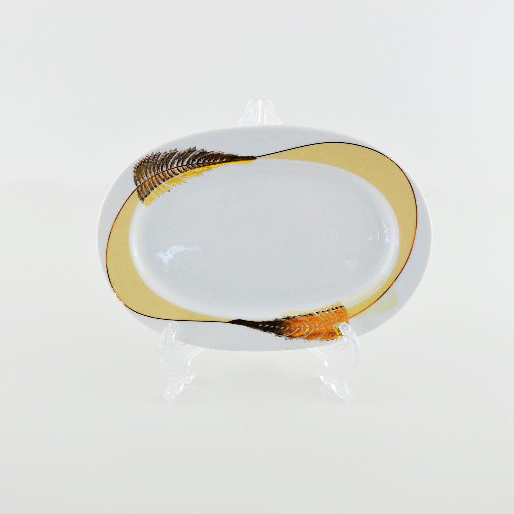 Qab dəsti Kütahya Porselen KCRN87YT9013969, şüşə, ağ/qızılı