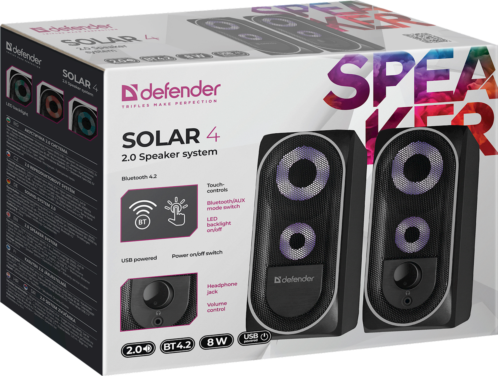 Akustik sistem Defender Solar 4 USB