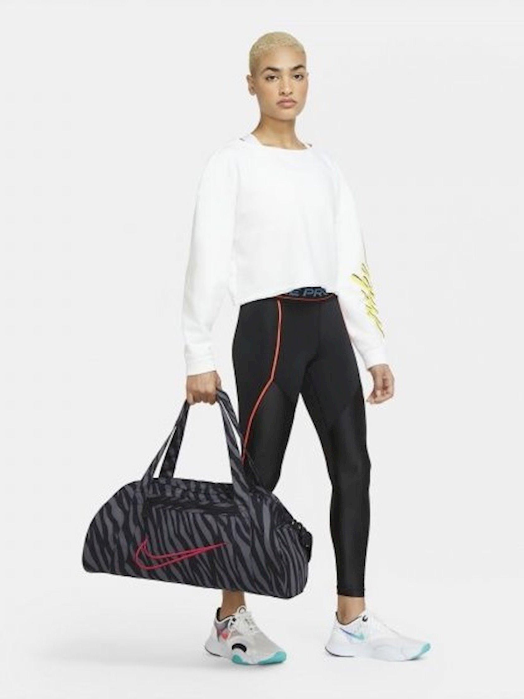Qadın idman çantası Nike W Nk Gym Club - Aop CW7205-010,Qara/Boz