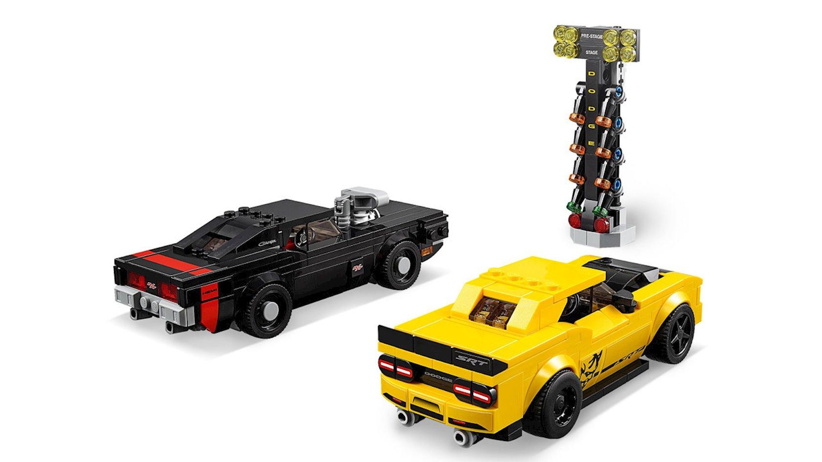 Konstruktor Lego Speed Champions Avtomobillər Dodge Challenger SRT Demon 2018 и Dodge Charger R/T 1970
